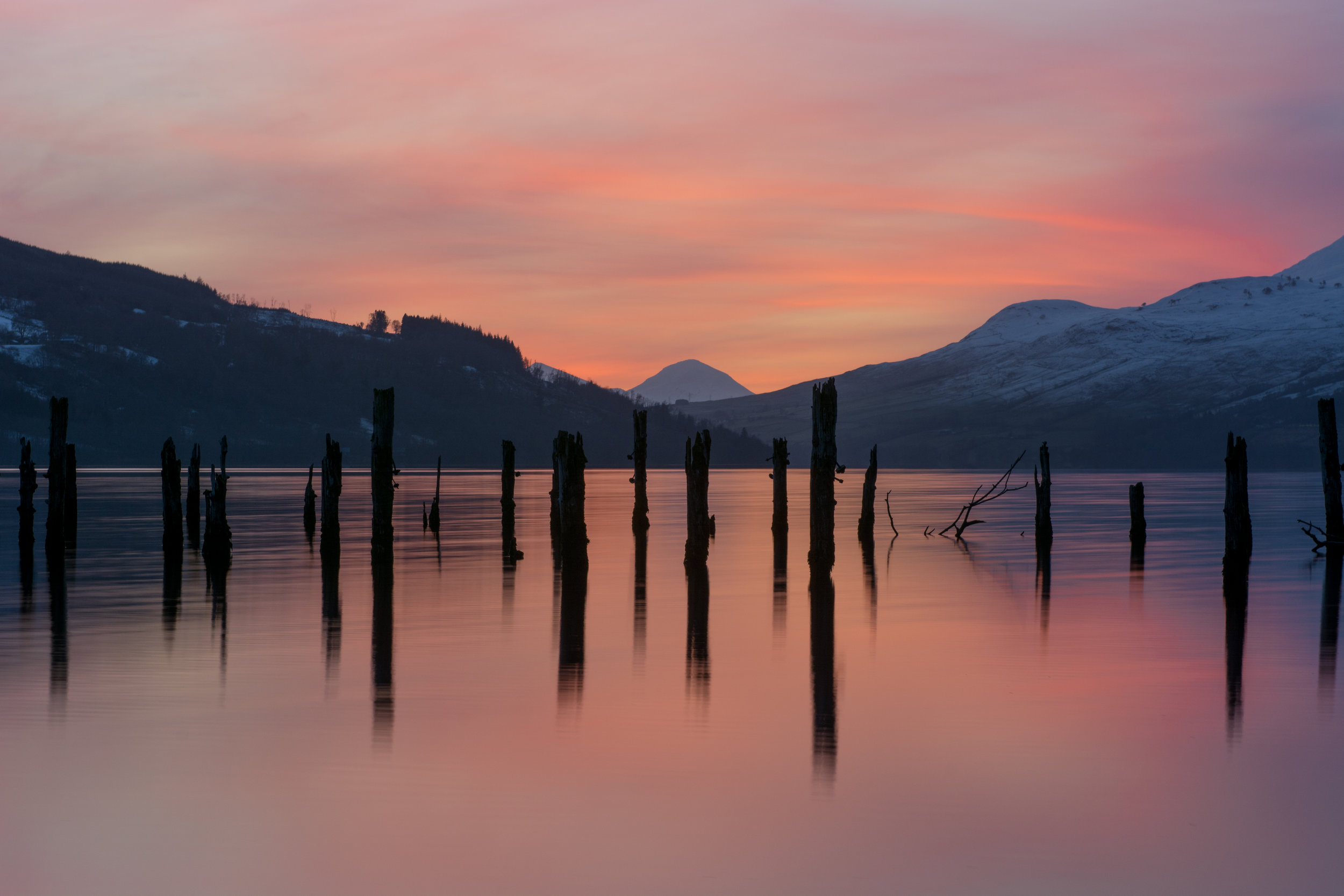 Sunset on Loch Tay by Katherine Fotheringham