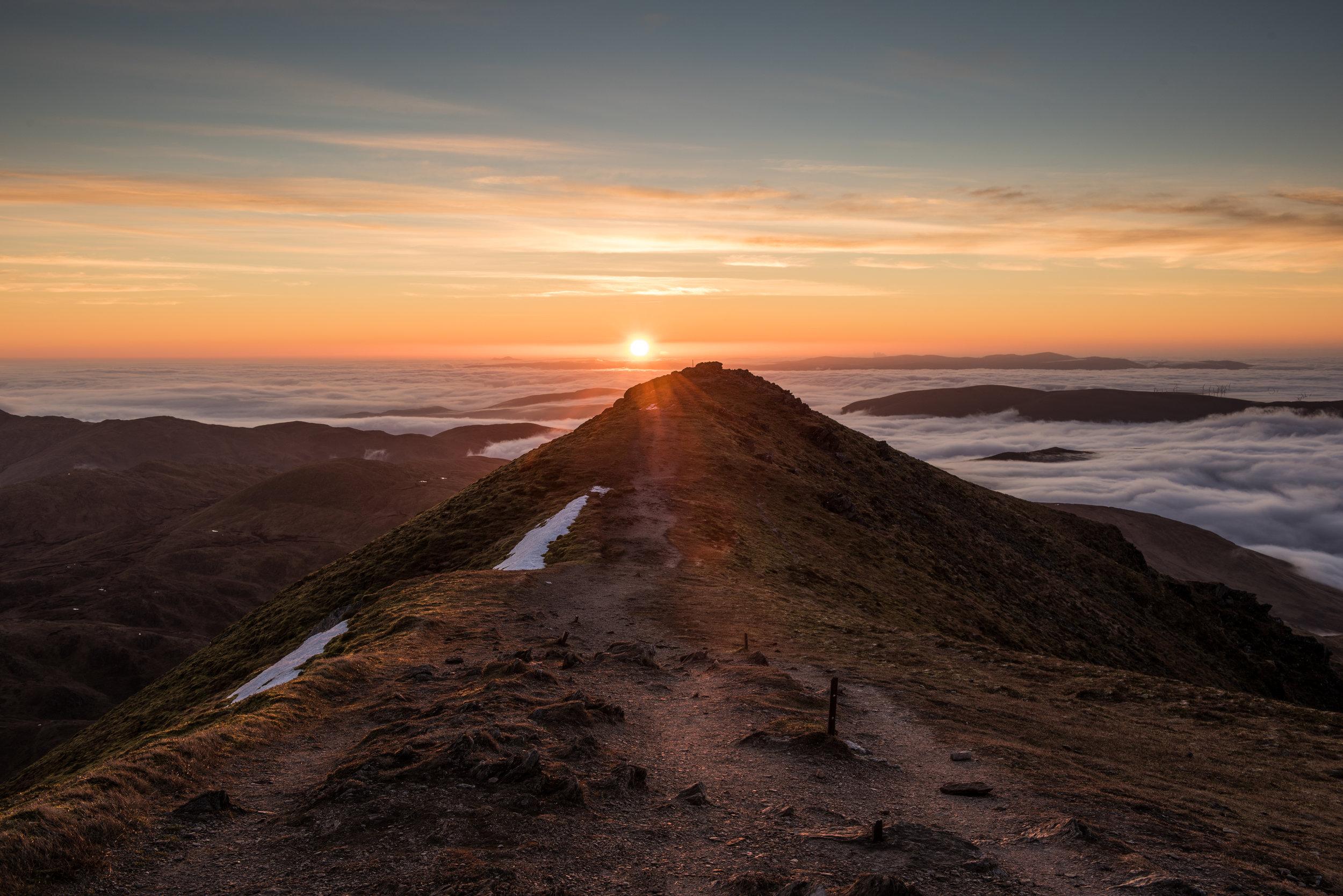 Sunrise on Ben Volich by Katherine Fotheringham