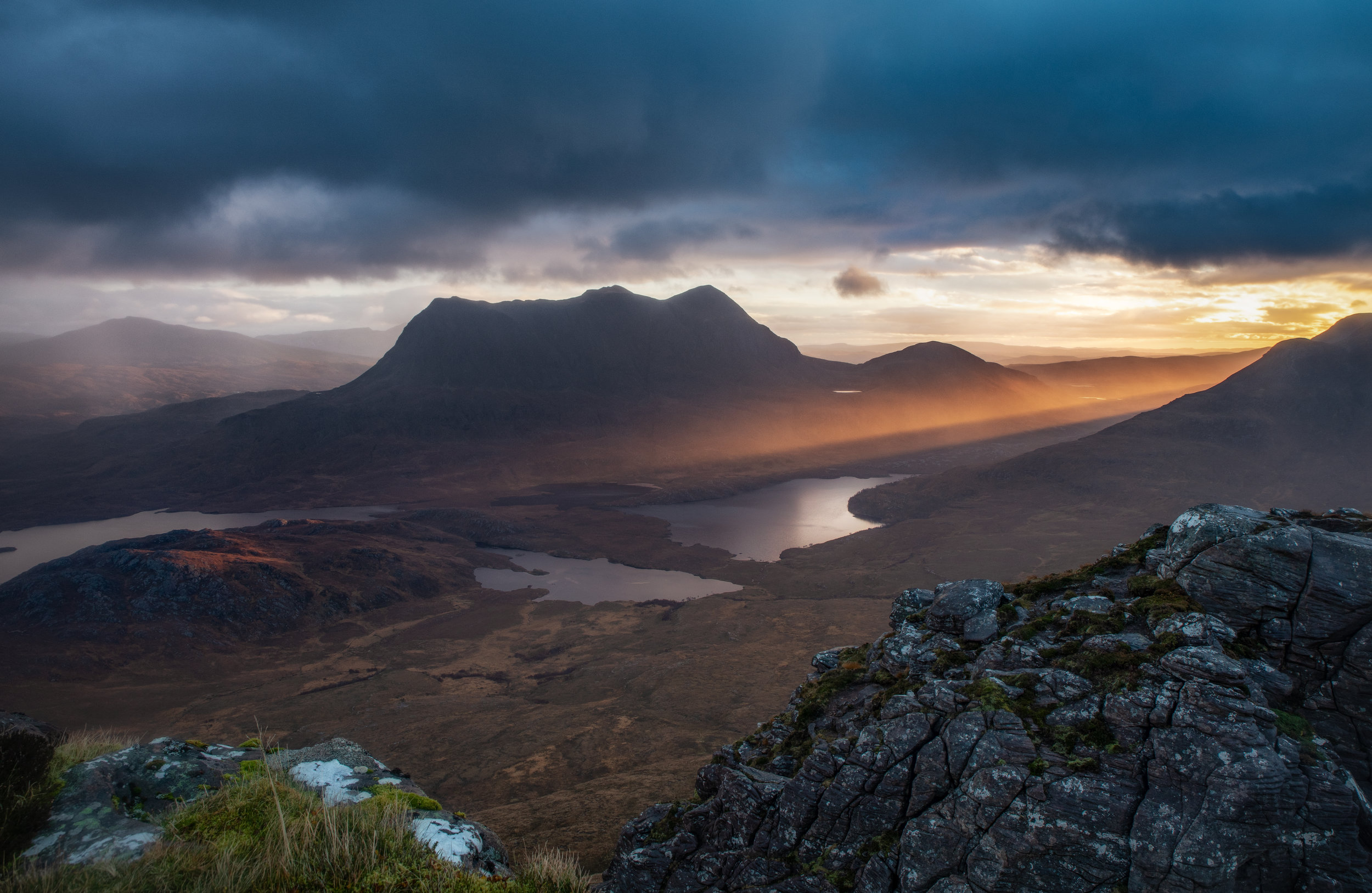 First light on Assynt by Andy Clark