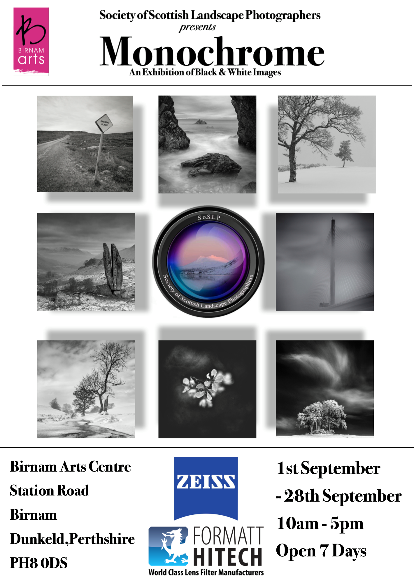 "Upcoming Exhibition! - We are proud to say that we are two of the seven photographers exhibiting in ""Monochrome"" a celebration of black & white photography.The exhibition runs from the 1st September to the 28th of September at Birnams Art Centre in Perthshire. The exhibition is free entry and well worth a visit to see some great mono work."