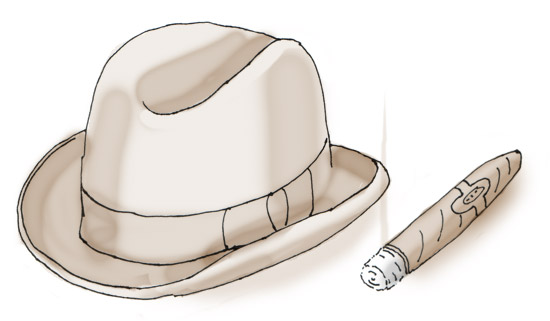 Churchill's hat and cigar