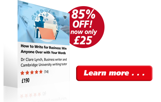 Business writing course 85% discount