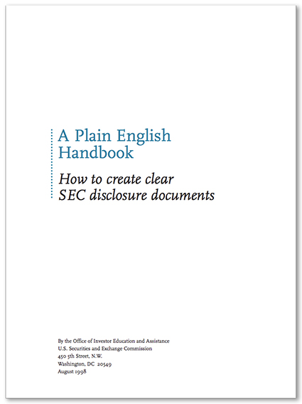 SEC guide to clear English