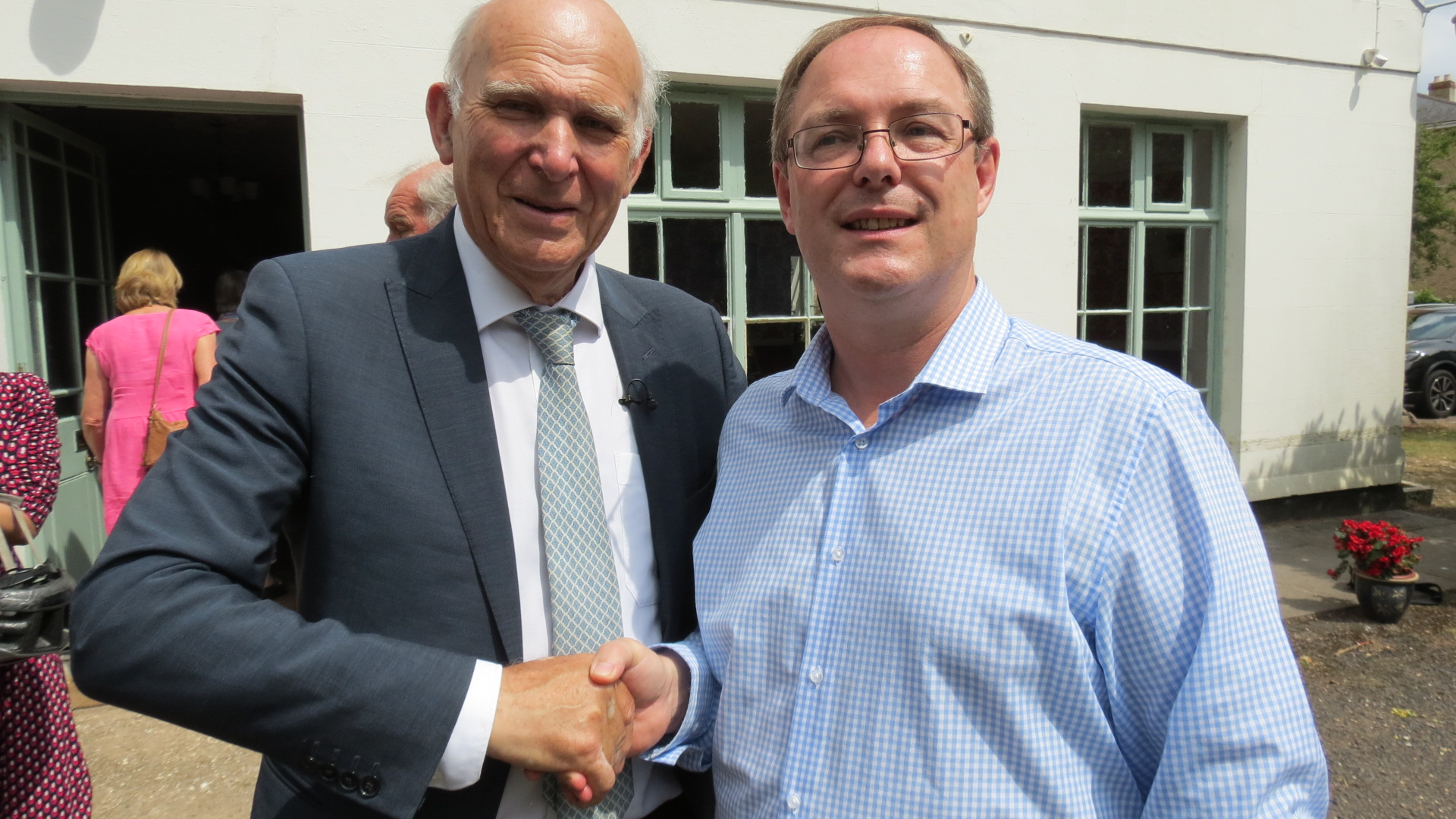 Shortly after joining Andy Sully met Liberal Democrat Leader Vince Cable on a recent visit to Taunton