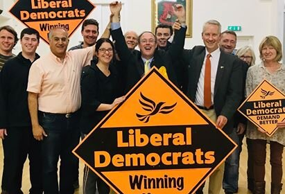 Lib Dem Celebrate Victory in Norton Fitzwarren and Staplegrove