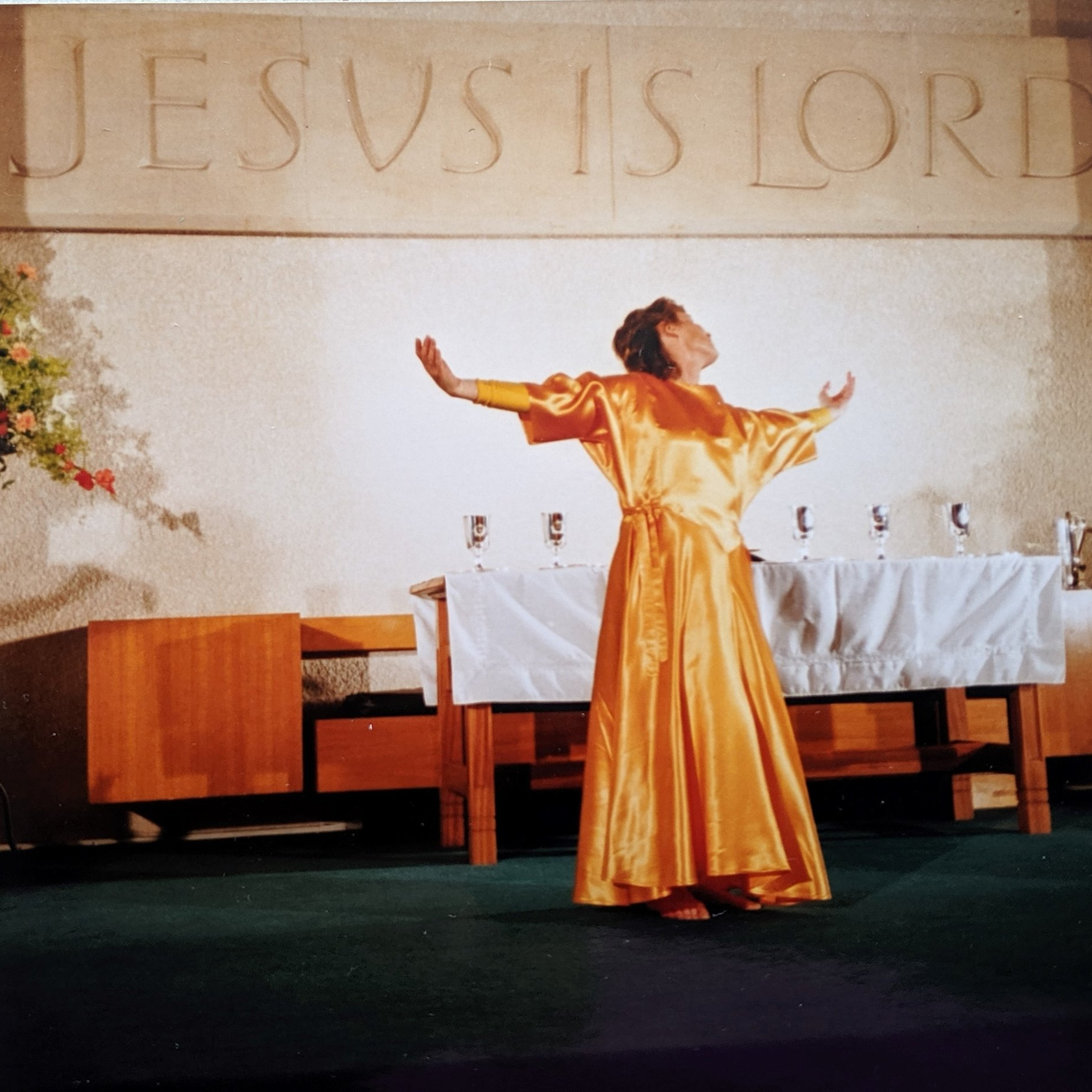 Photo of Stella taken in 1991 during Holy Communion