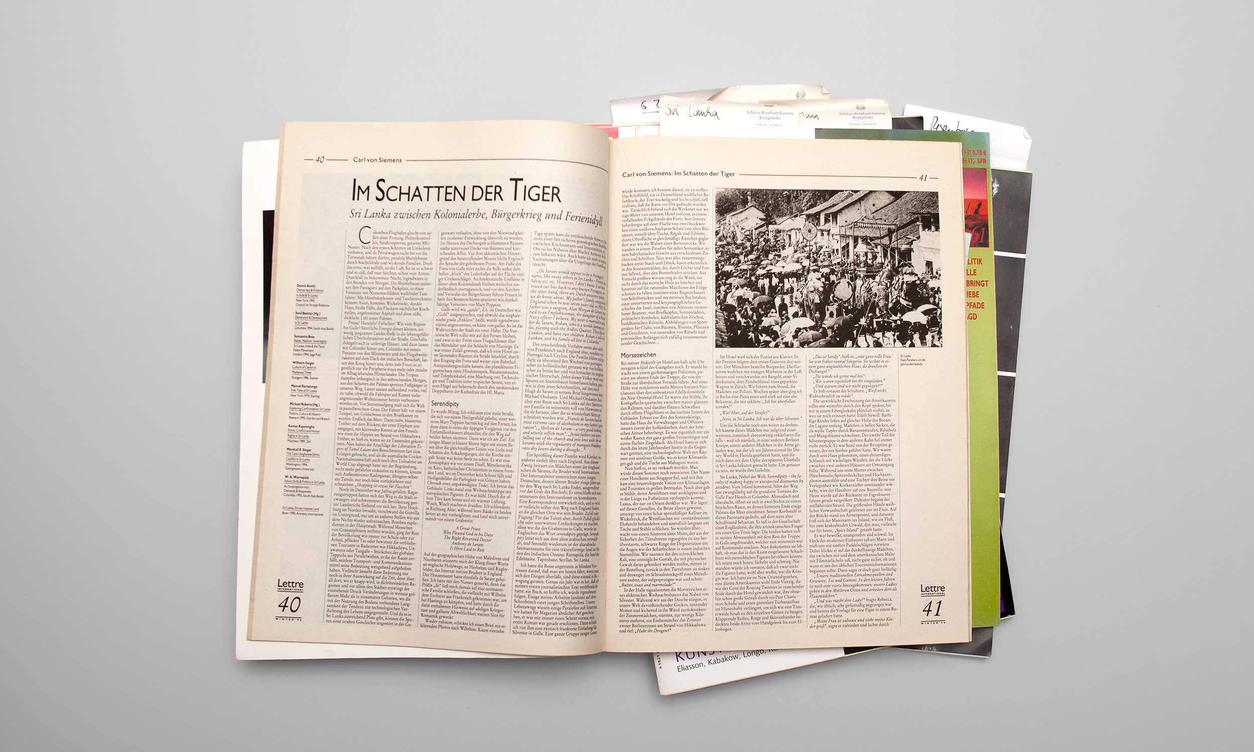 Carl von Siemens Lettre 1996 Doppelseite