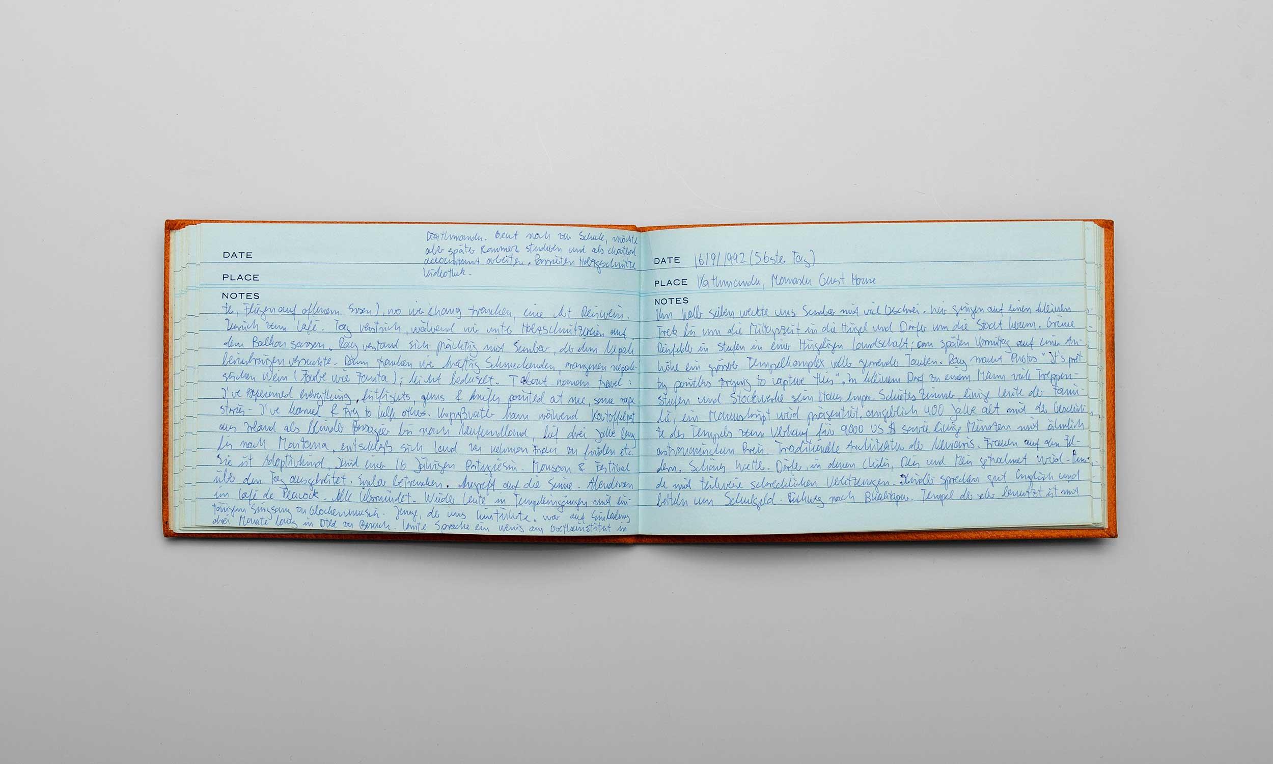 Carl von Siemens Tagebuchseite
