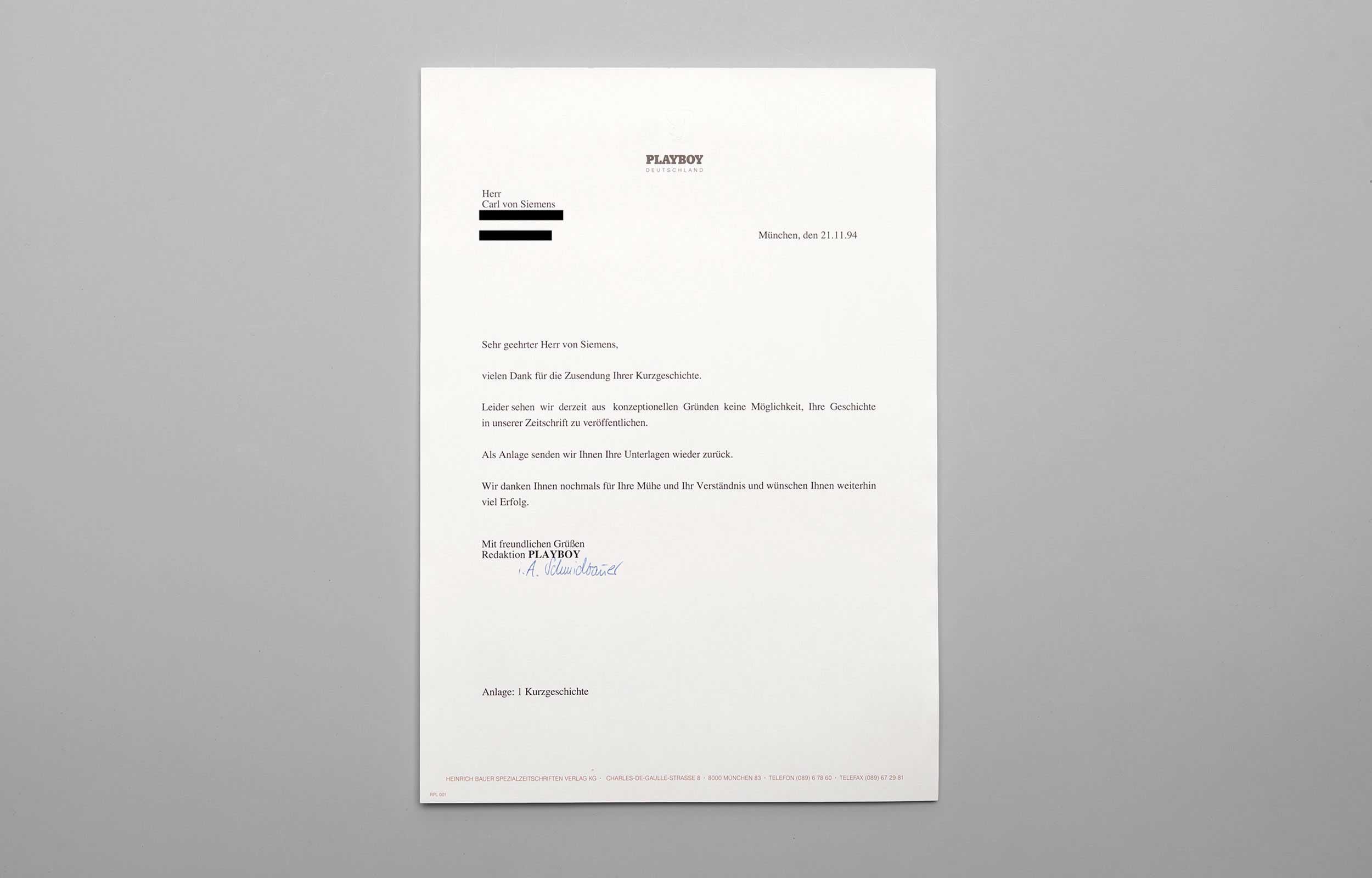 Carl von Siemens Rolling Stone Brief 3