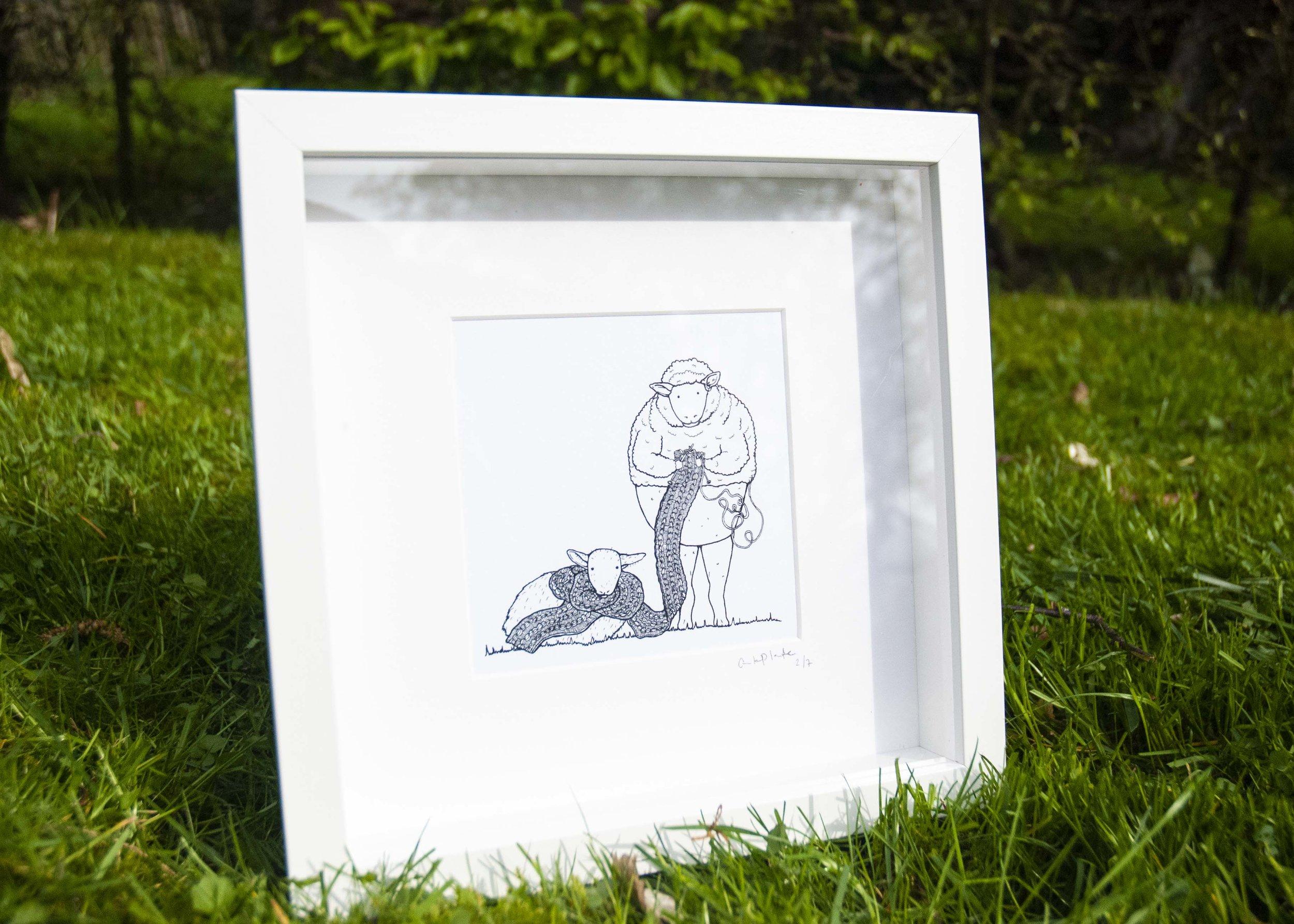 Les Moutons, dessin original.