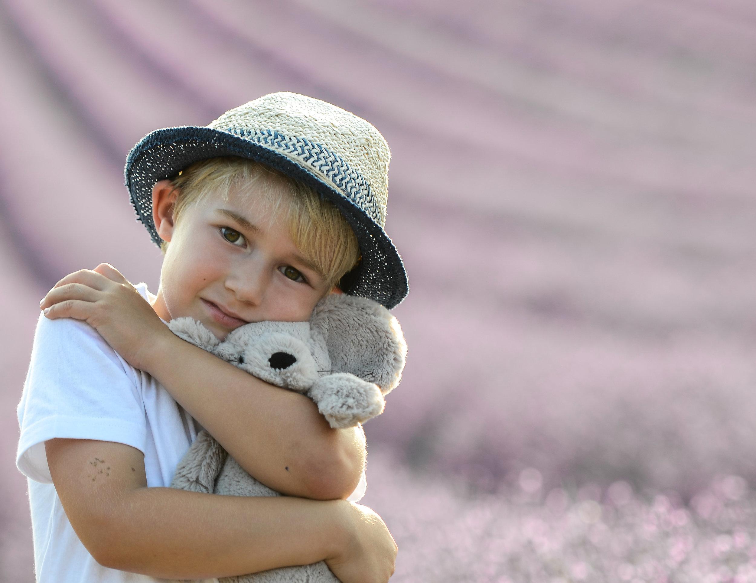 Sid & his teddy - Lordington Lavender