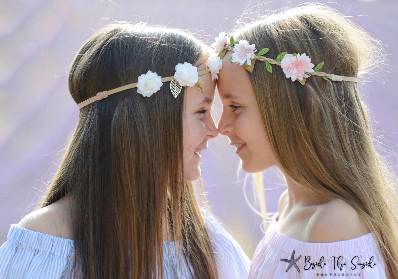 Sisters Bella & Grace in the lavender -  Lordington