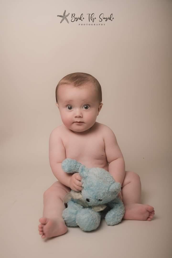 Eli & his late grandmothers blue teddybear