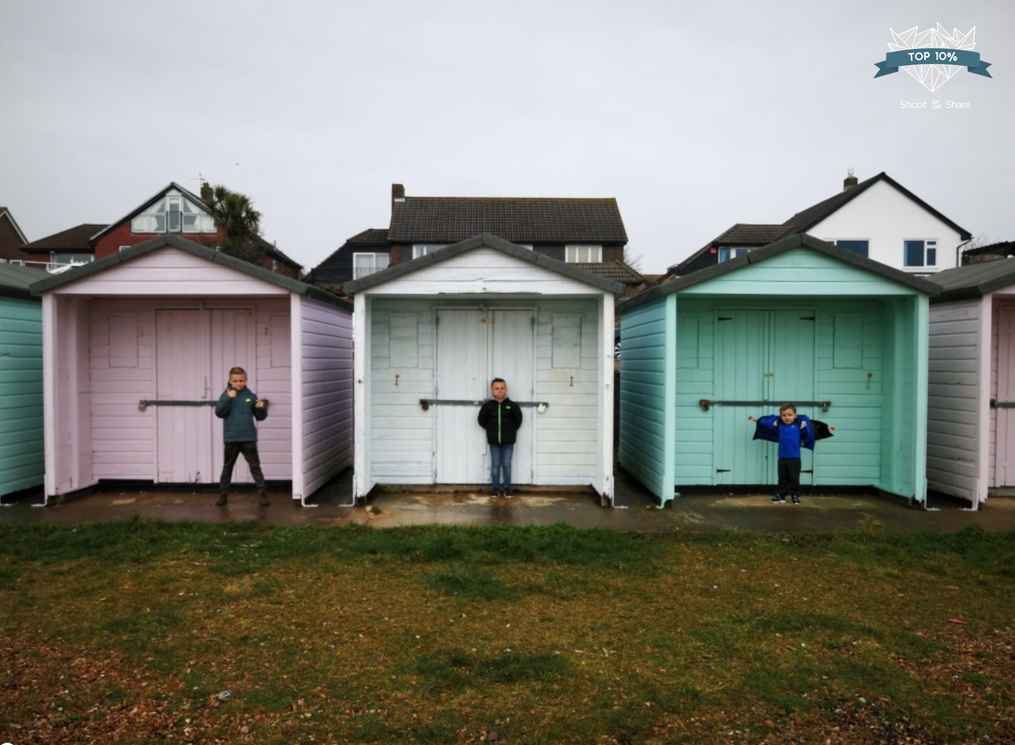 The pastel beach huts Eastney, Portsmouth, UK
