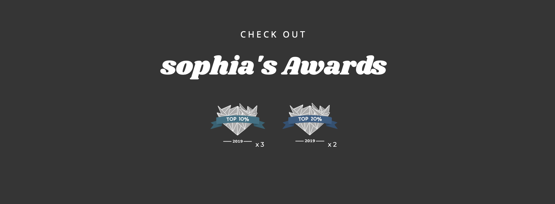 Sophia's awards shoot and share 2019 UK