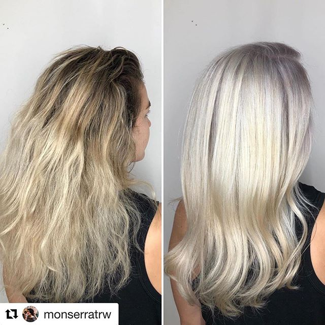 Aaaah the before and after! So beautiful!!!!🖤hair by @monserratrw 🖤  #beforeandafterhair #orbithairdesign #orbithair #annarborsalon #annarborhairsalons #annarborcolorspecialist #annarborstylist
