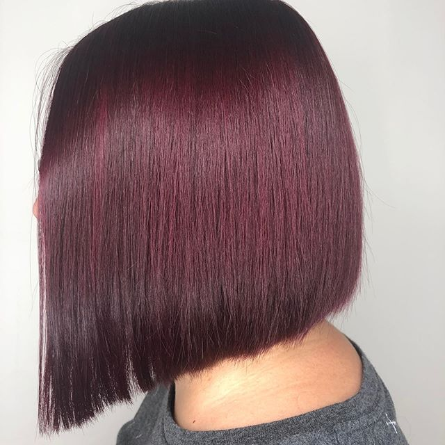What a perfect color and cut to start the fall season! Hair by @jenniebrummondhair  #orbithair #orbithairdesign #annarborsalon #annarborhair #annarborstylist #annarborcolorist