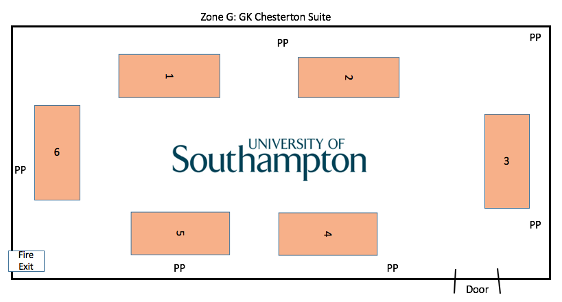 Zone G:  Southampton University  GK Chesterton Suite