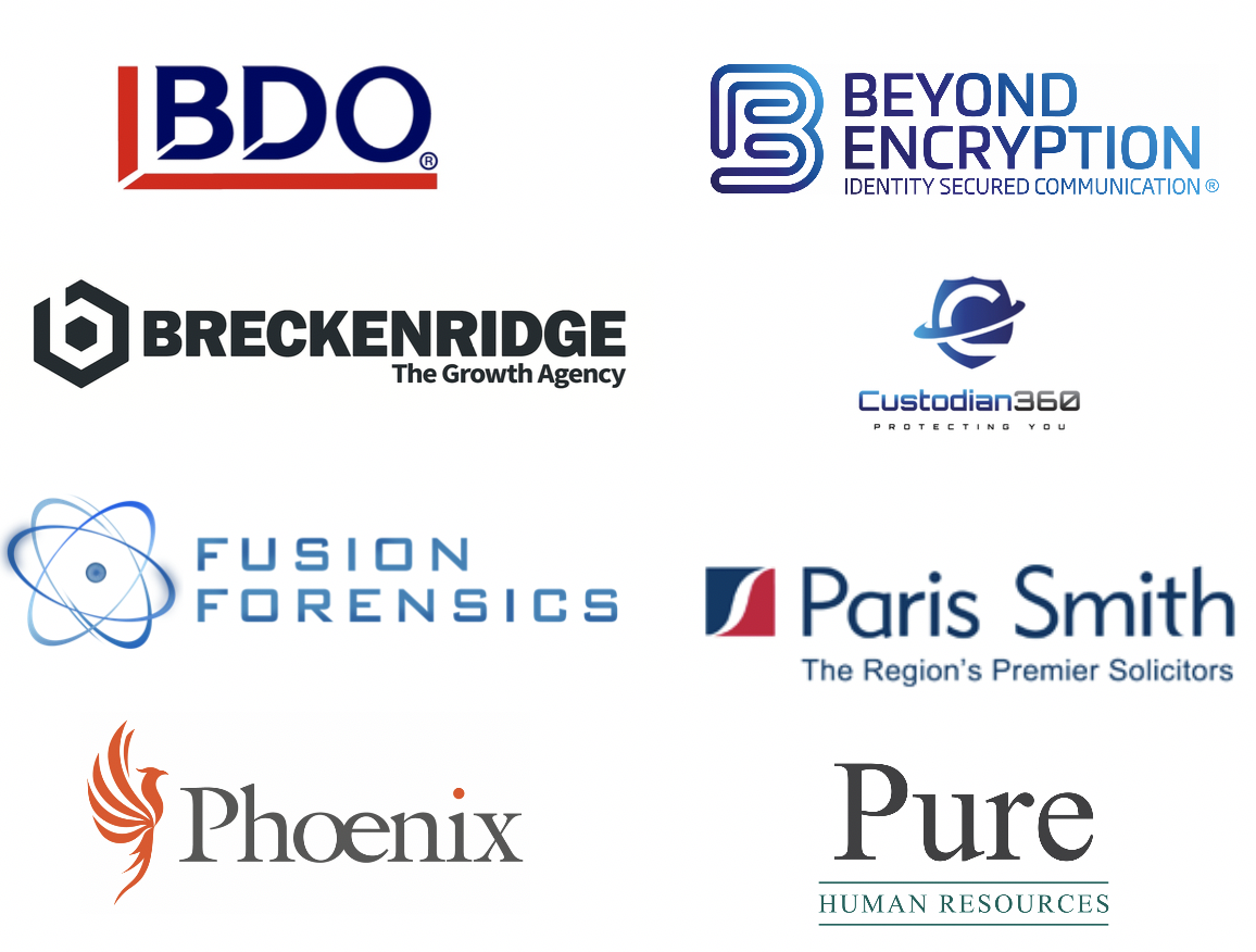 Service Sector companies in the main hub (main hall/lounge) - BDO LLP / Beyond Encryption / Breckenridge - The Growth Agency / Custodian 360 / Fusion Forensics / Paris Smith LLP / Pure Human Resources / Phoenix Project Solutions