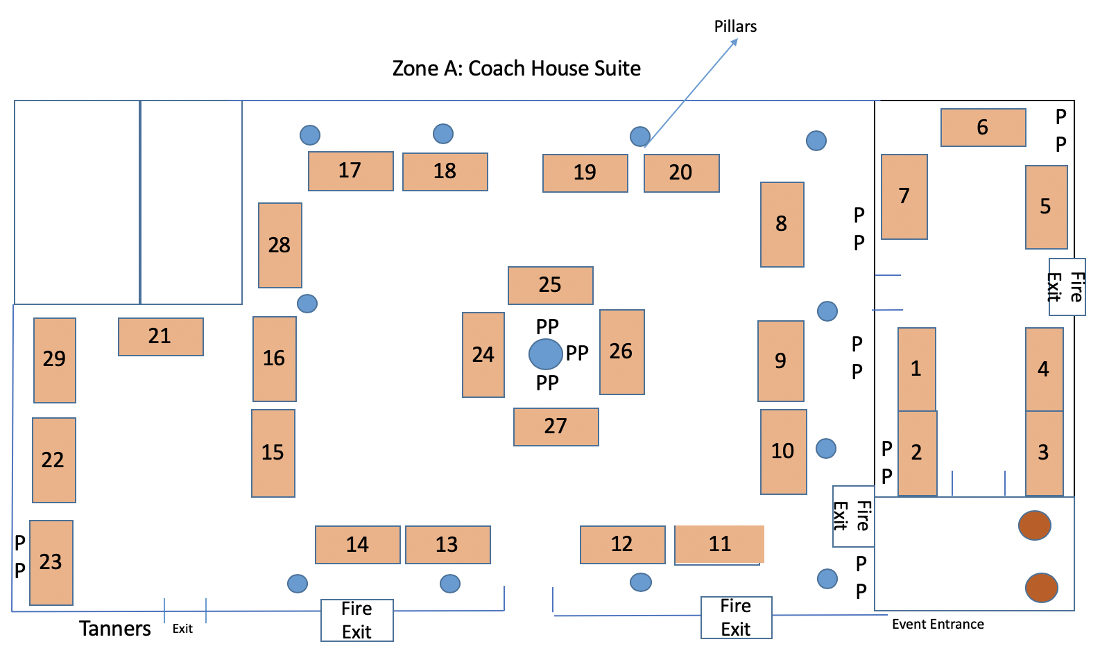 Zone A: Coach House Suite incorporating The Mill Room