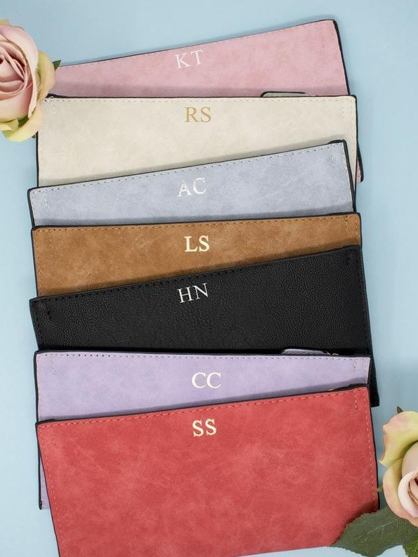 personalised mongrammed purse - Doesn't a monogram make everything feel just that little bit more special? We certainly think so! That's why we're loving these personalised purses - you can choose up to three initials in five different print colour choices. Just the right size for the essentials!£10