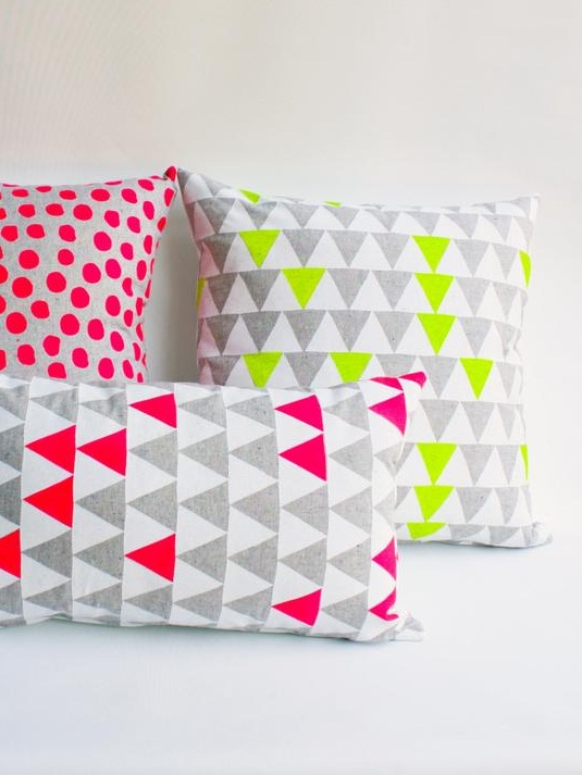 mountains of montana cushion cover - Not only are these neon geometric cushion covers from Earth Cadets a whole lot of fun to add to your interior decor, but they're good for the environment too. The fabric is 100% organic and the printing process uses eco-friendly inks.£30.98+