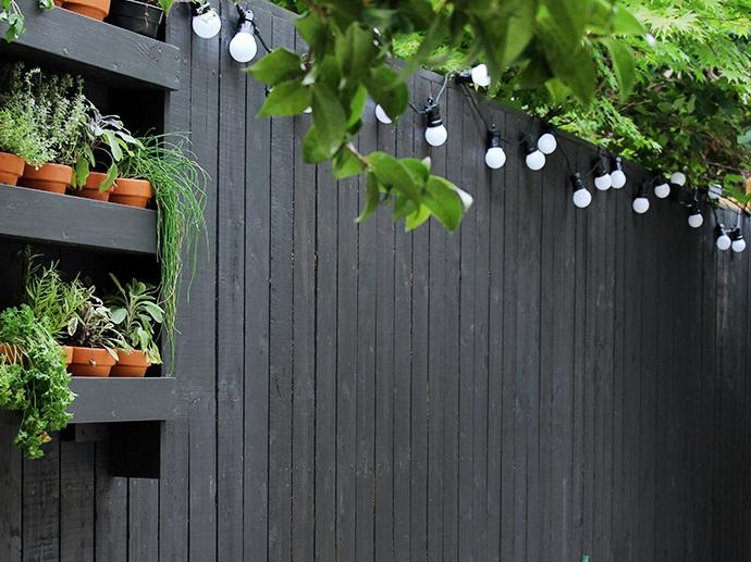 Black Vertical Wooden Slats
