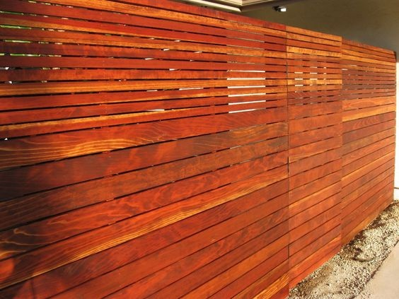 Horizontal Wooden Slats