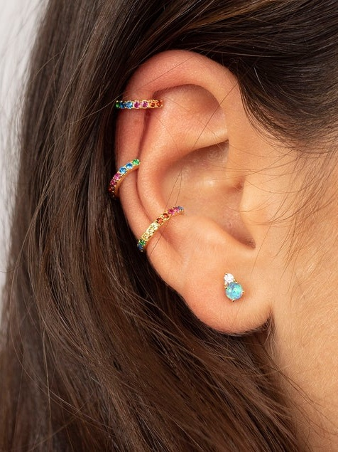 Rainbow Non-Pierced Ear Cuff - These ear cuffs add a gorgeous bit of sparkle to any outfit! Love that they're non-pierced, so no pain required.£9.50+