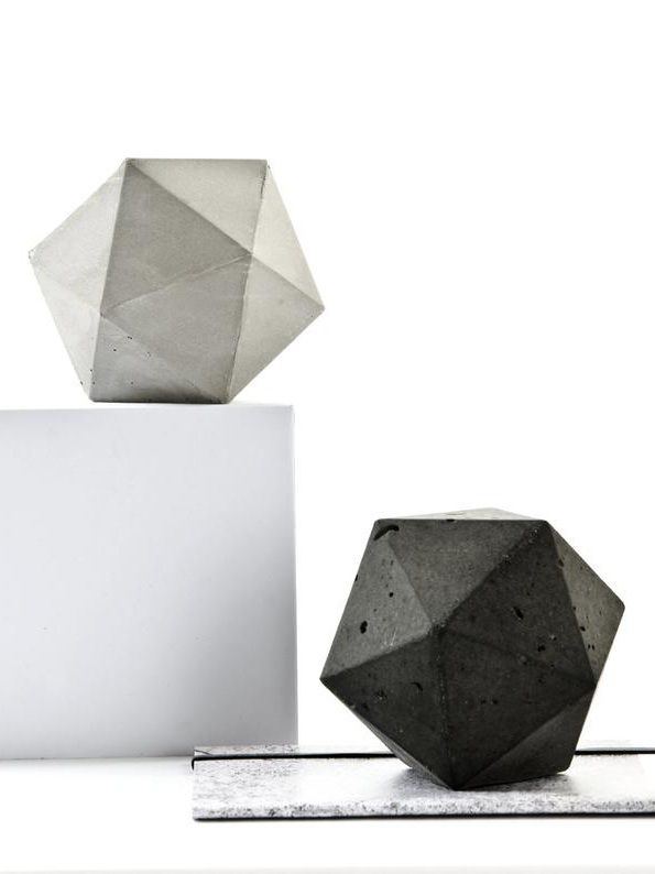 Concrete Icosahedron geometric paperweight - Keep track of all your important paperwork with a geometric concrete paperweight. The perfect accessory for the contemporary office!£9.50+