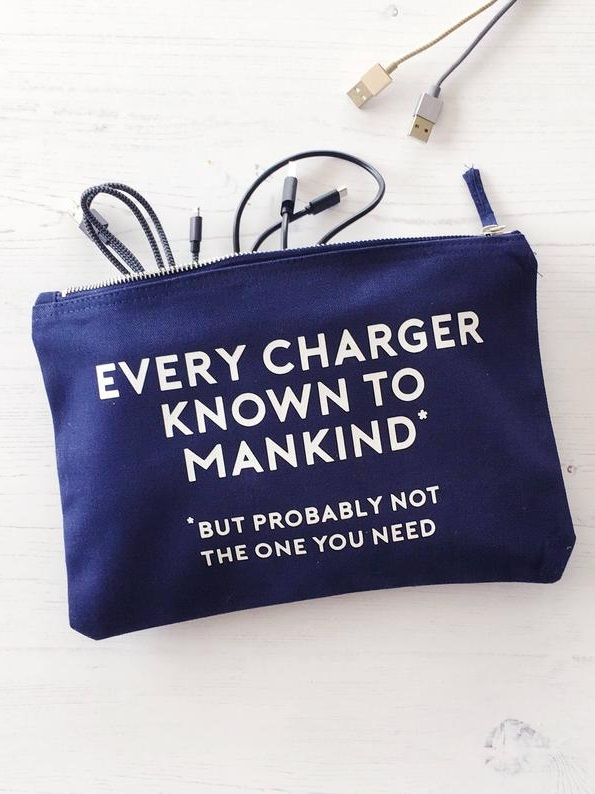 Cable & Charger Organisation Bag - Make sure everything is in one place with a fun bag! You'll never have to search for the right cable again.£11.95+