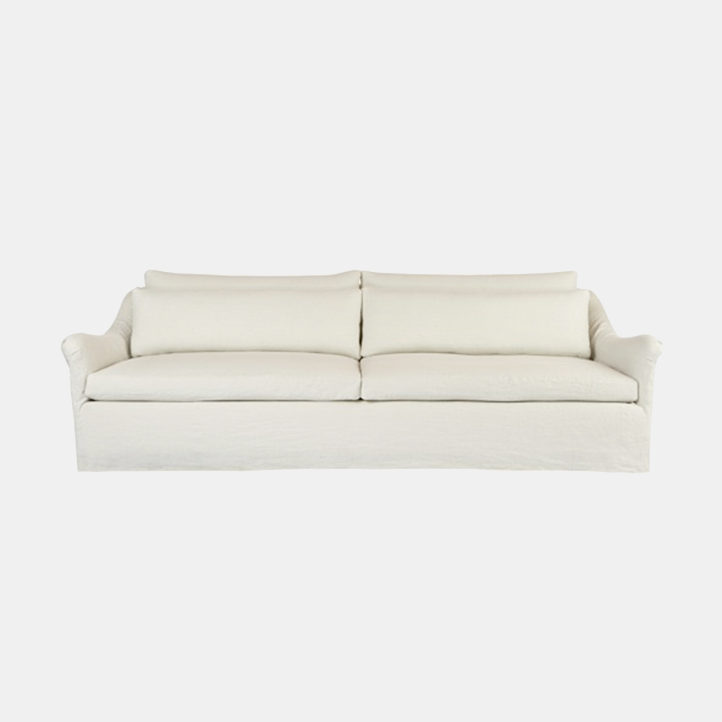 """Genevieve Sofa  84""""w x 32""""h x 43""""d 96""""w x 32""""h x 43""""d 108""""w x 32""""h x 43""""d Available slipcovered and upholstered. Also available as chair, chair and a half, and loveseat. SKU1309CSC"""