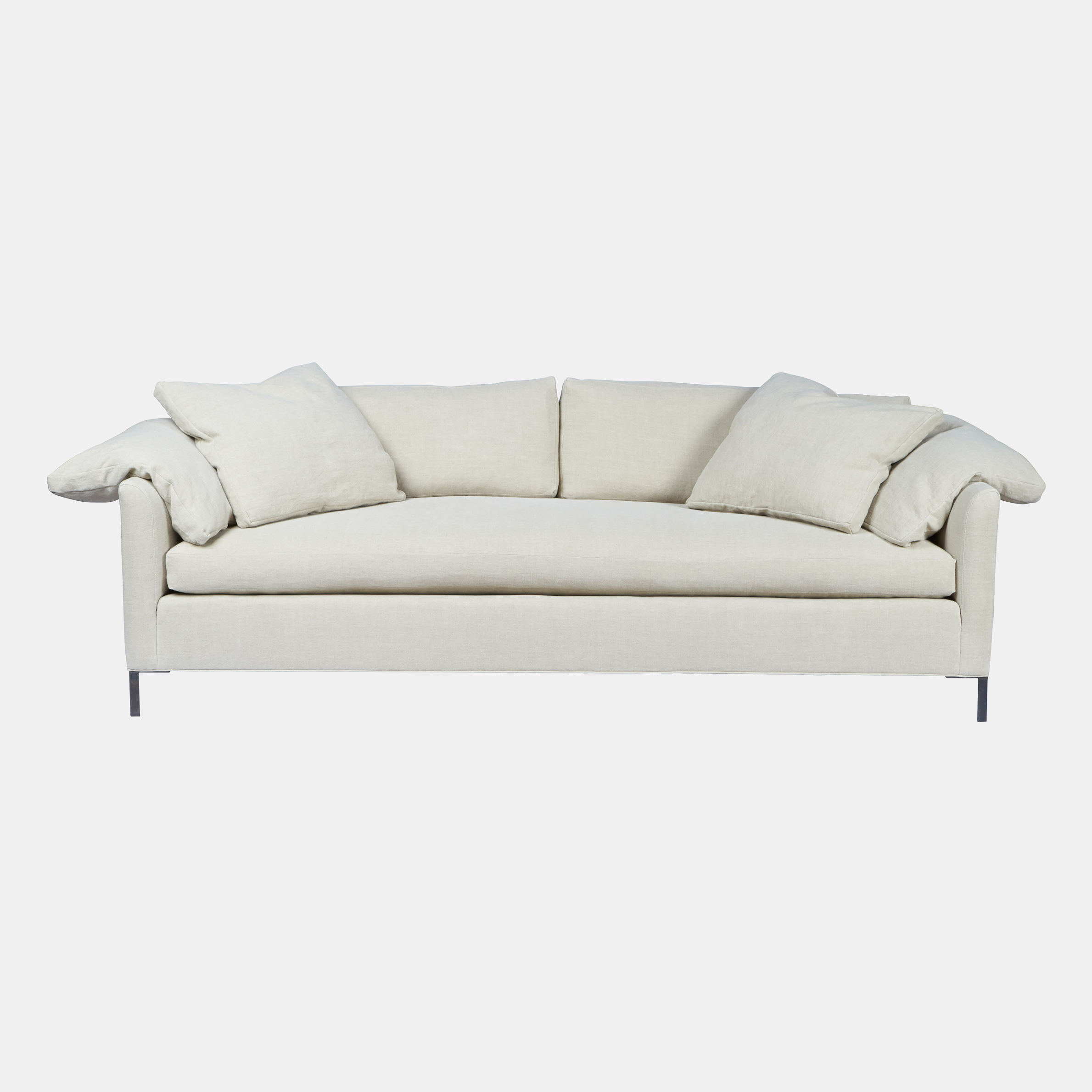 """Radley Sofa  78""""w x 30""""h x 38""""d 90""""w x 30""""h x 38""""d Also available as bench, ottoman, chair and sectional. SKU7729CSC"""