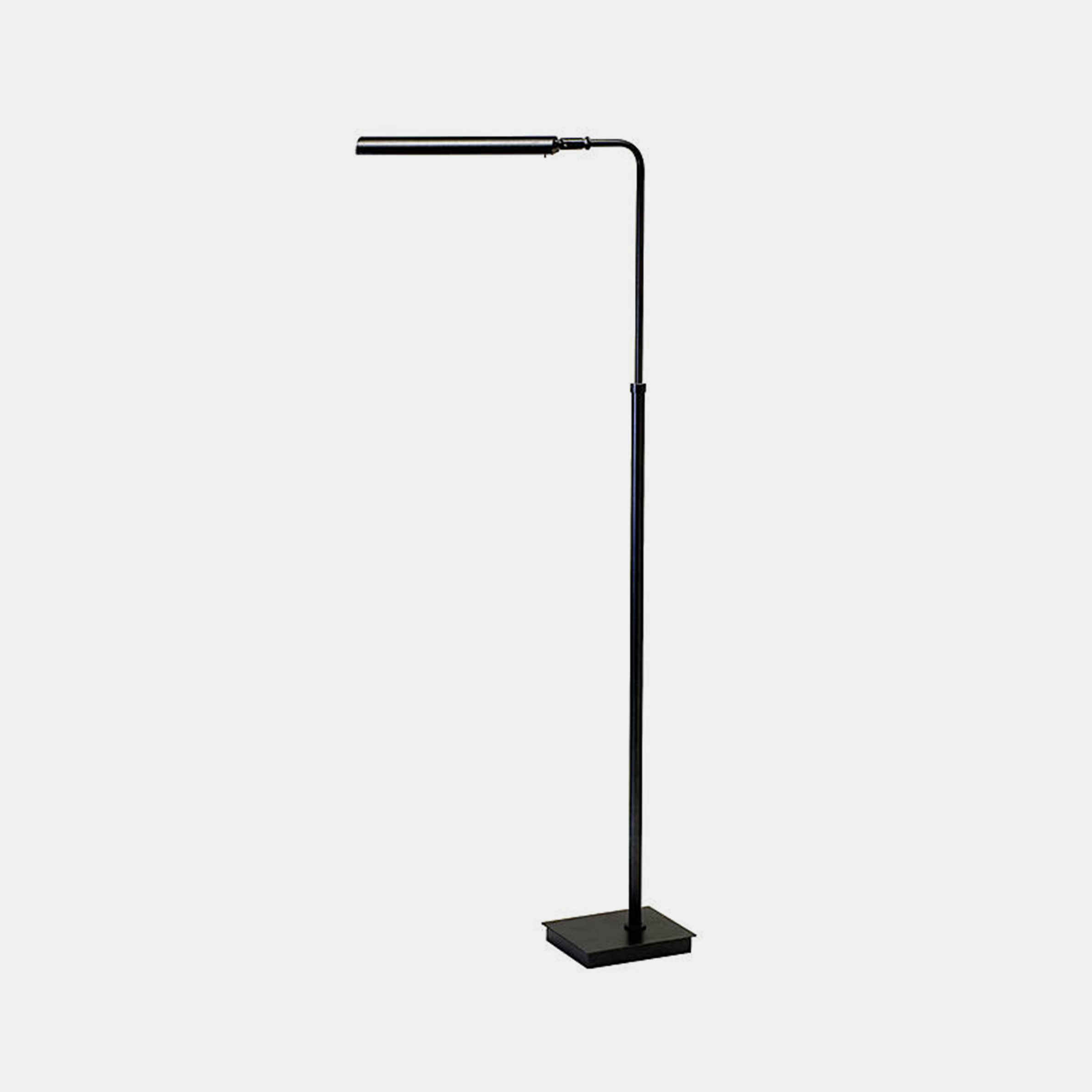 "Matte Black Adjustable Floor Lamp  Base width 7.25"", depth 6"". Fixture width 11.25"", height adjustable from 37"" to 46.5"", depth 17"". Shade width 11.25"". Available in black (shown), white, and gunmetal. Also available as table lamp. SKU001948HOT"