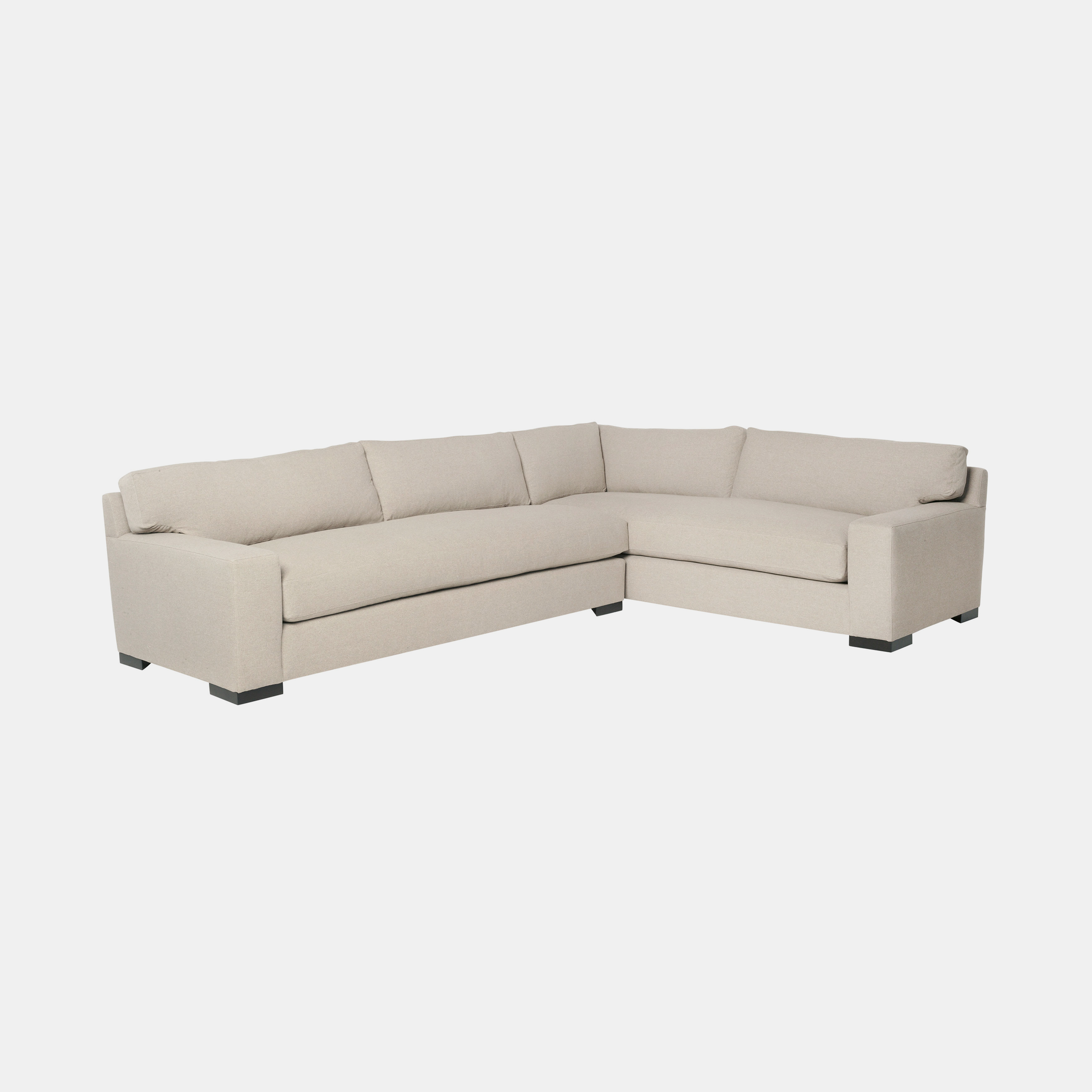 "Loft Sectional  96""w x 29""h x 130""d Available slipcovered and upholstered. SKU2498CSC"
