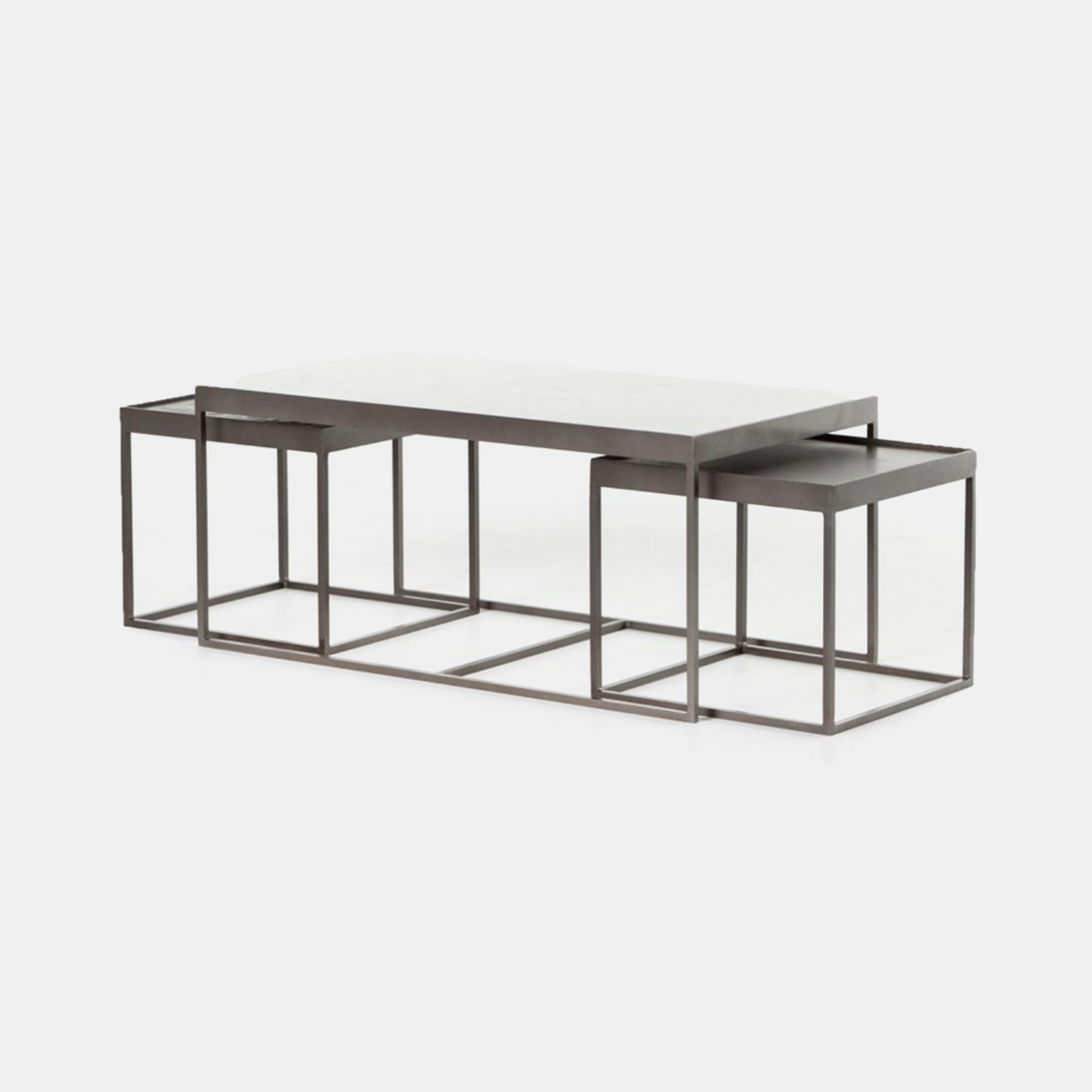 "Evelyn Nesting Coffee Tables  36""w x 20""d x 16""h overall 16""W x 16""D x 14""H each nesting table SKU4409FHS"