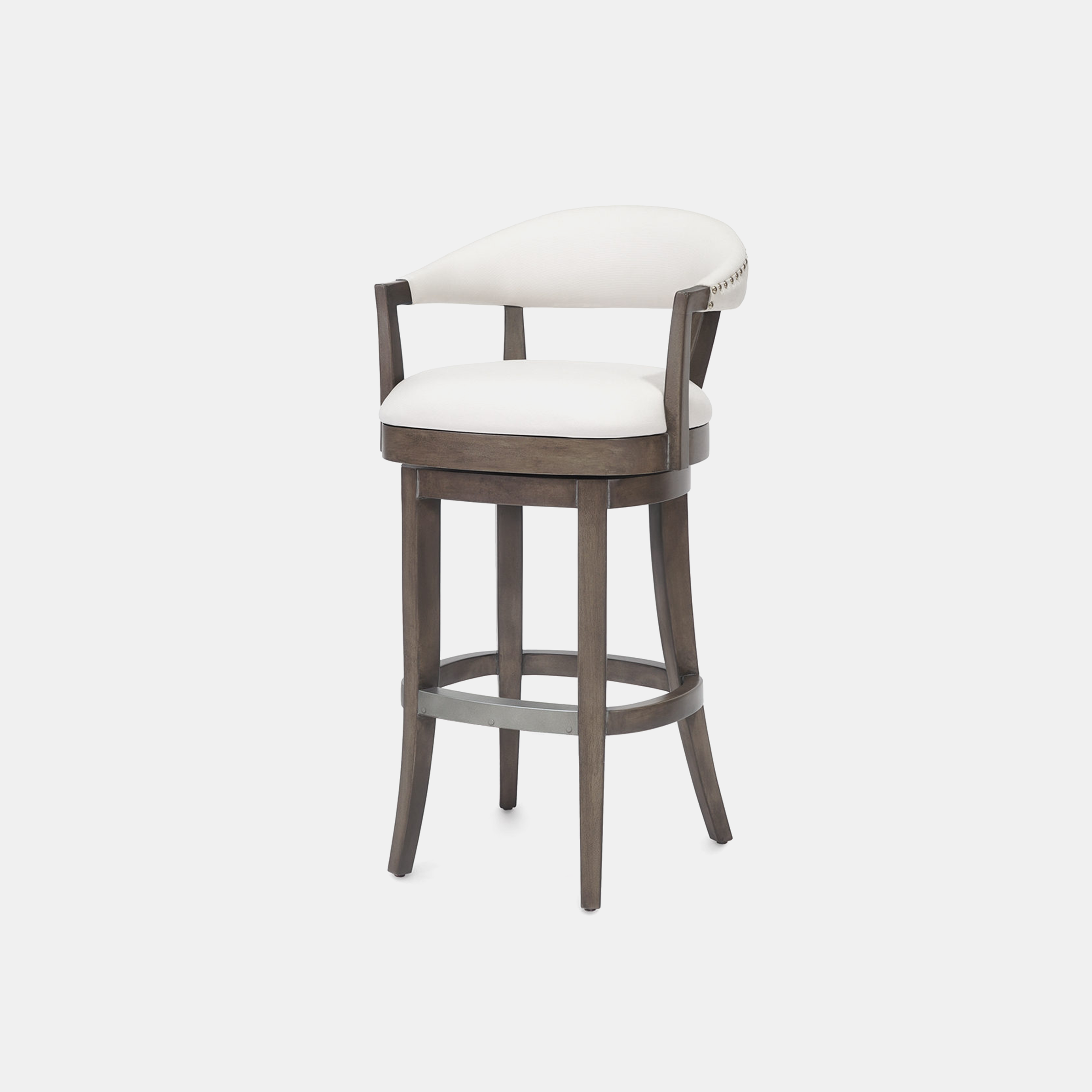 "Menlo Bar Stool  21.75""w x 21.75""d x 41""h Available in 30"" bar stool and 24"" counter stool. SKU774PLK"
