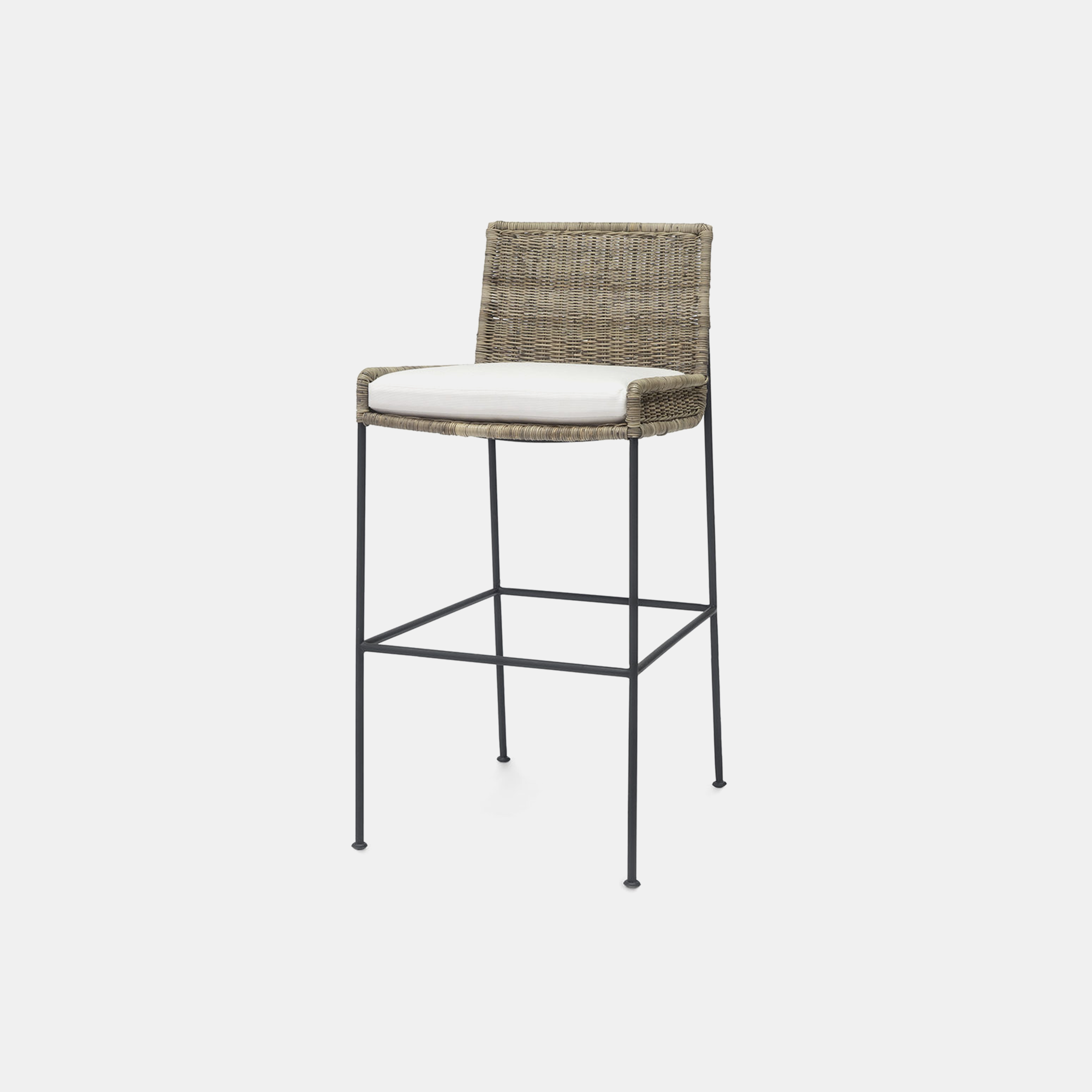 "Nora Bar Stool  19.25""w x 24""d x 39.5""h Available in 30"" bar stool and 24"" counter stool. SKU12224PLK"