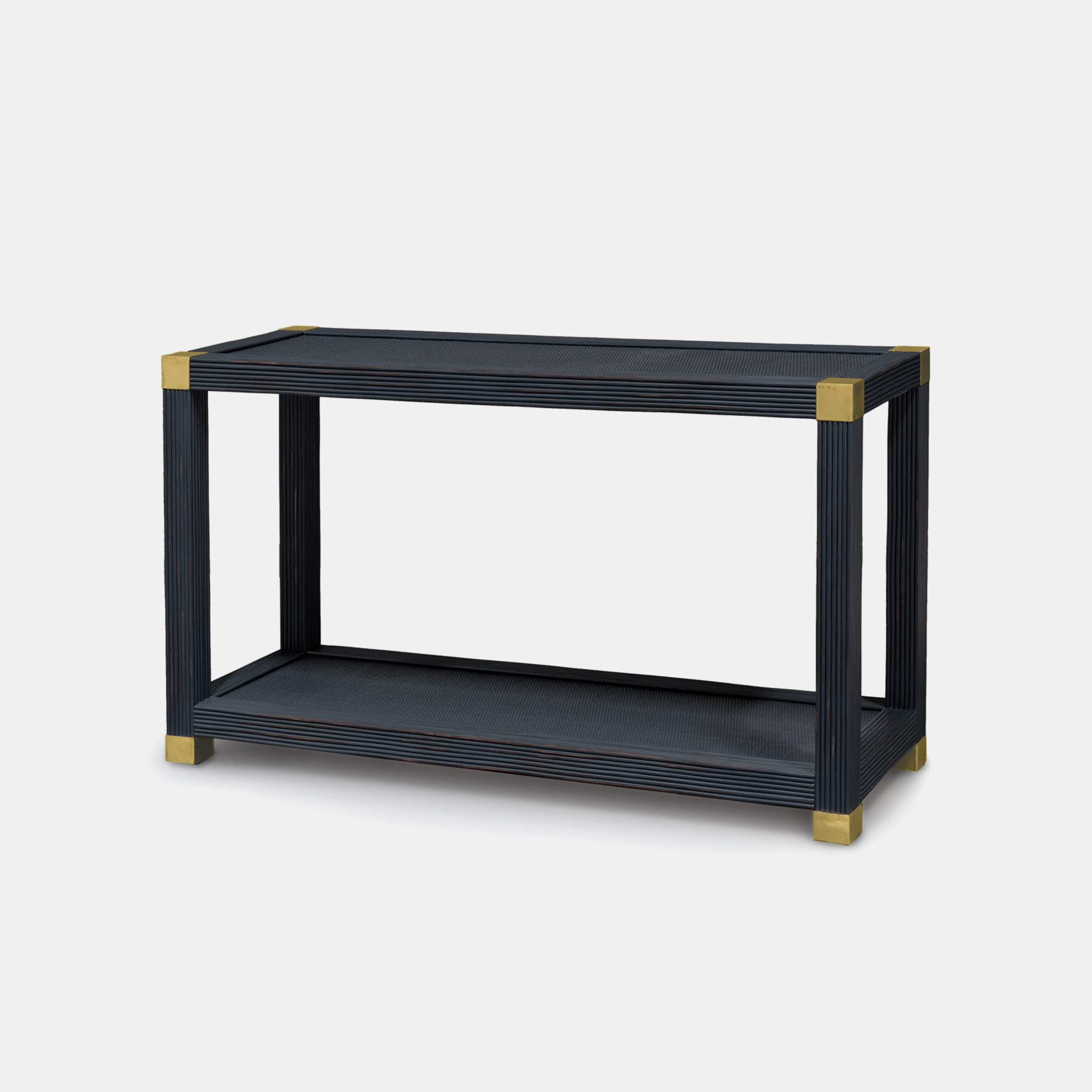 """Gregory Console  54""""w x 18""""d x 31""""h Available in silver and gold (shown) finishes. SKU55923PLK"""