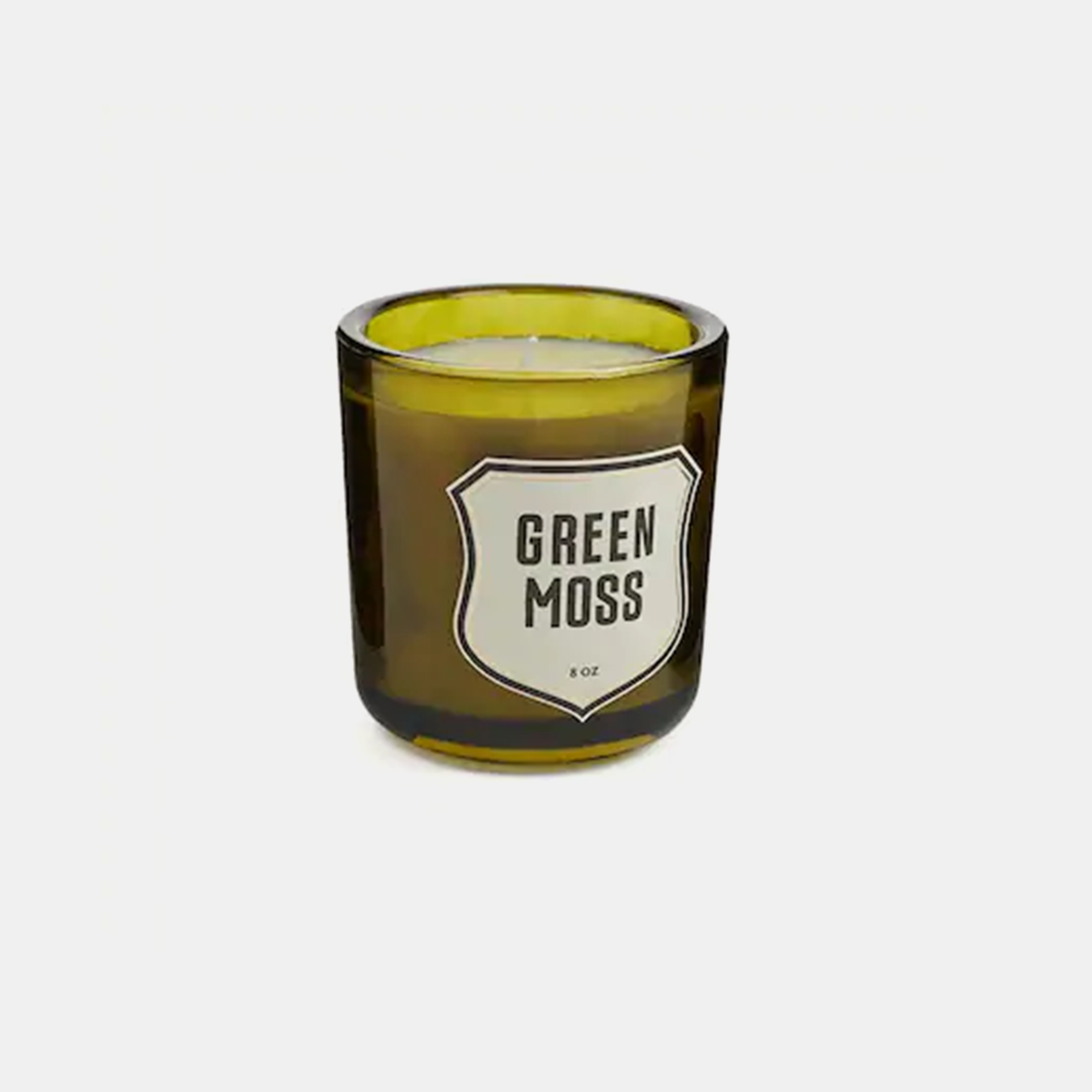 Green Moss Candle  Hand poured from soy wax into recycled glass containers. Over 60 hours of burn time. Made in USA. SKU9362IZA