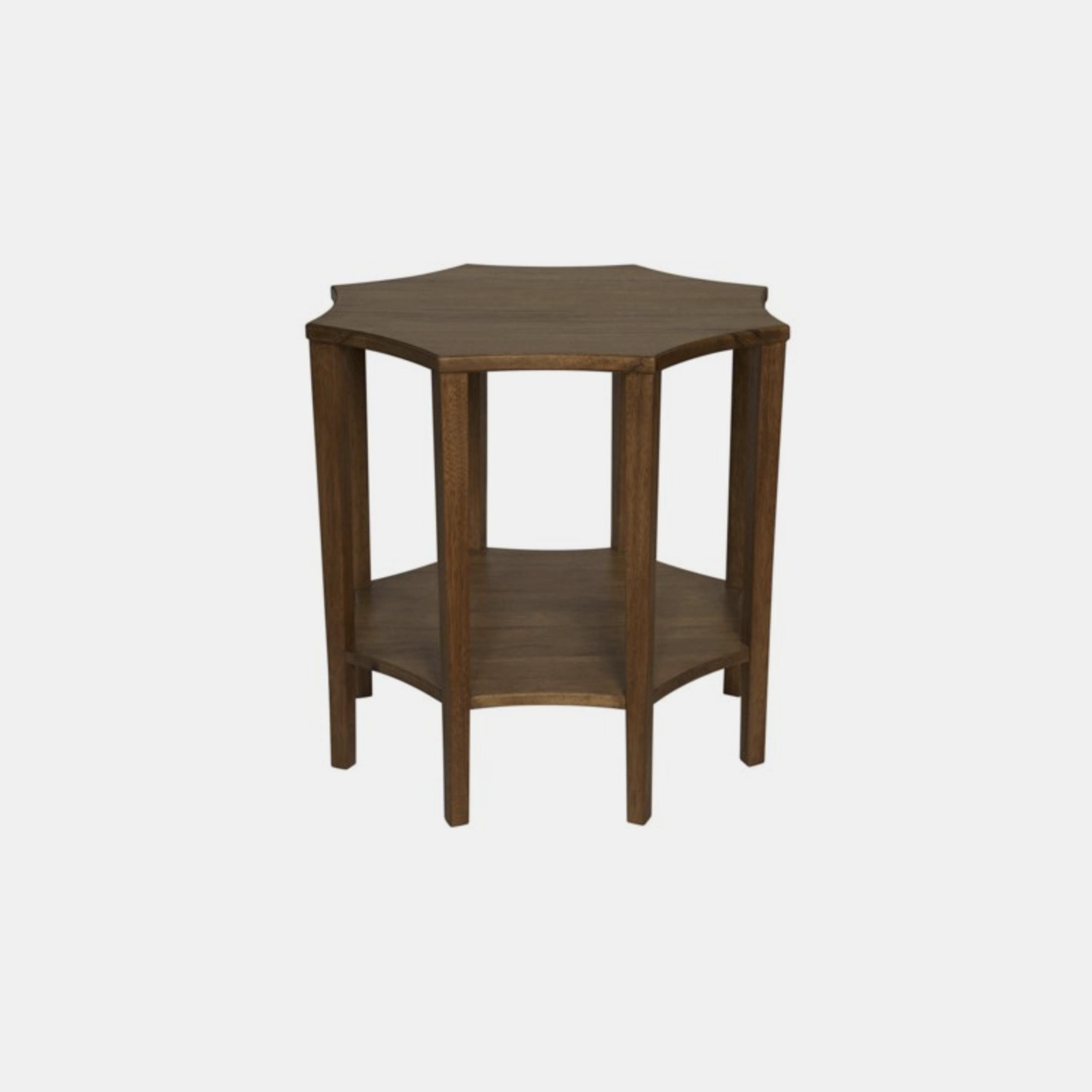 """Ariana Side Table  30"""" round x 28""""h Available in dark walnut (shown) and washed walnut. SKU1584NOR"""