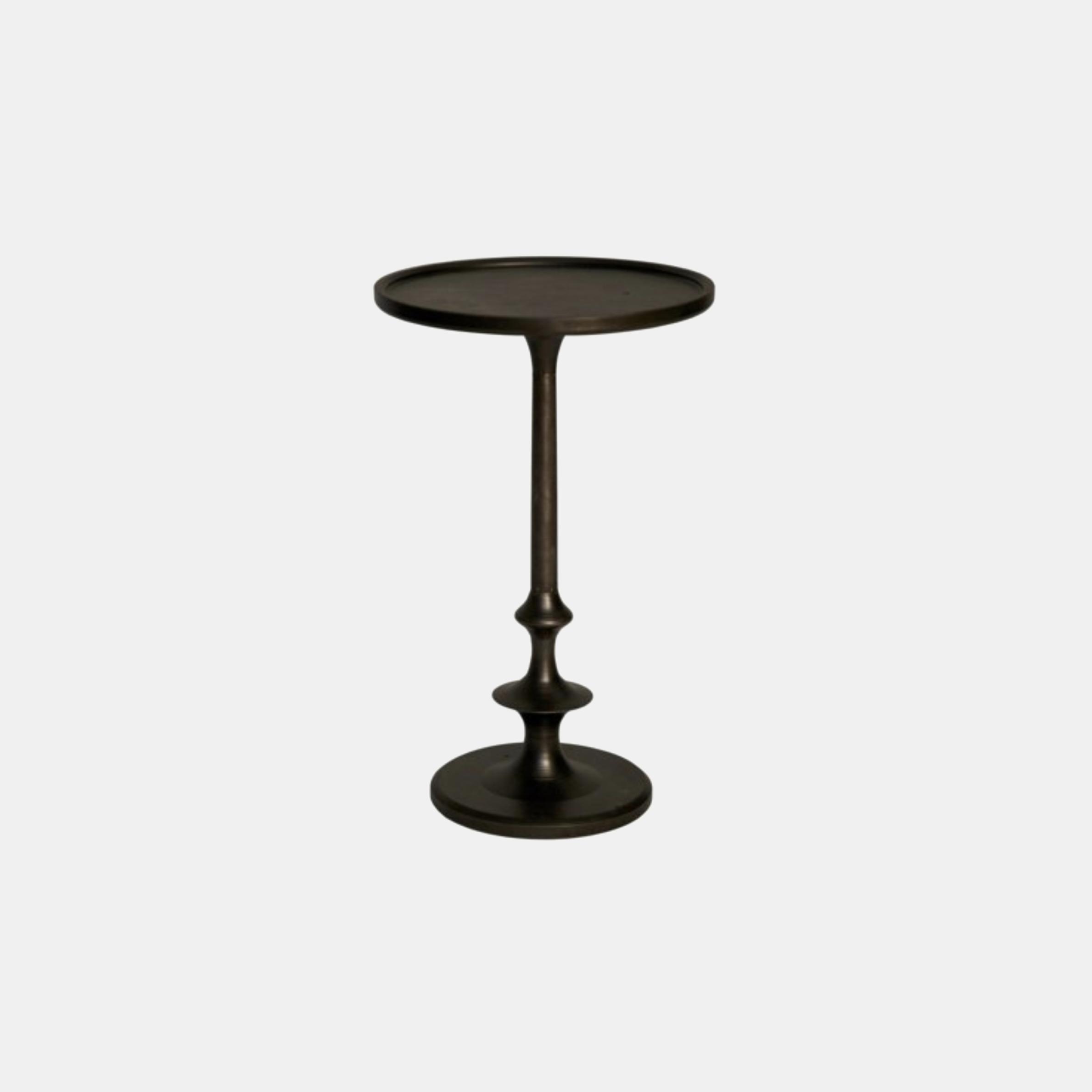 "Terni Cast Iron Side Table  12"" round x 20"" h SKU6238NOR"