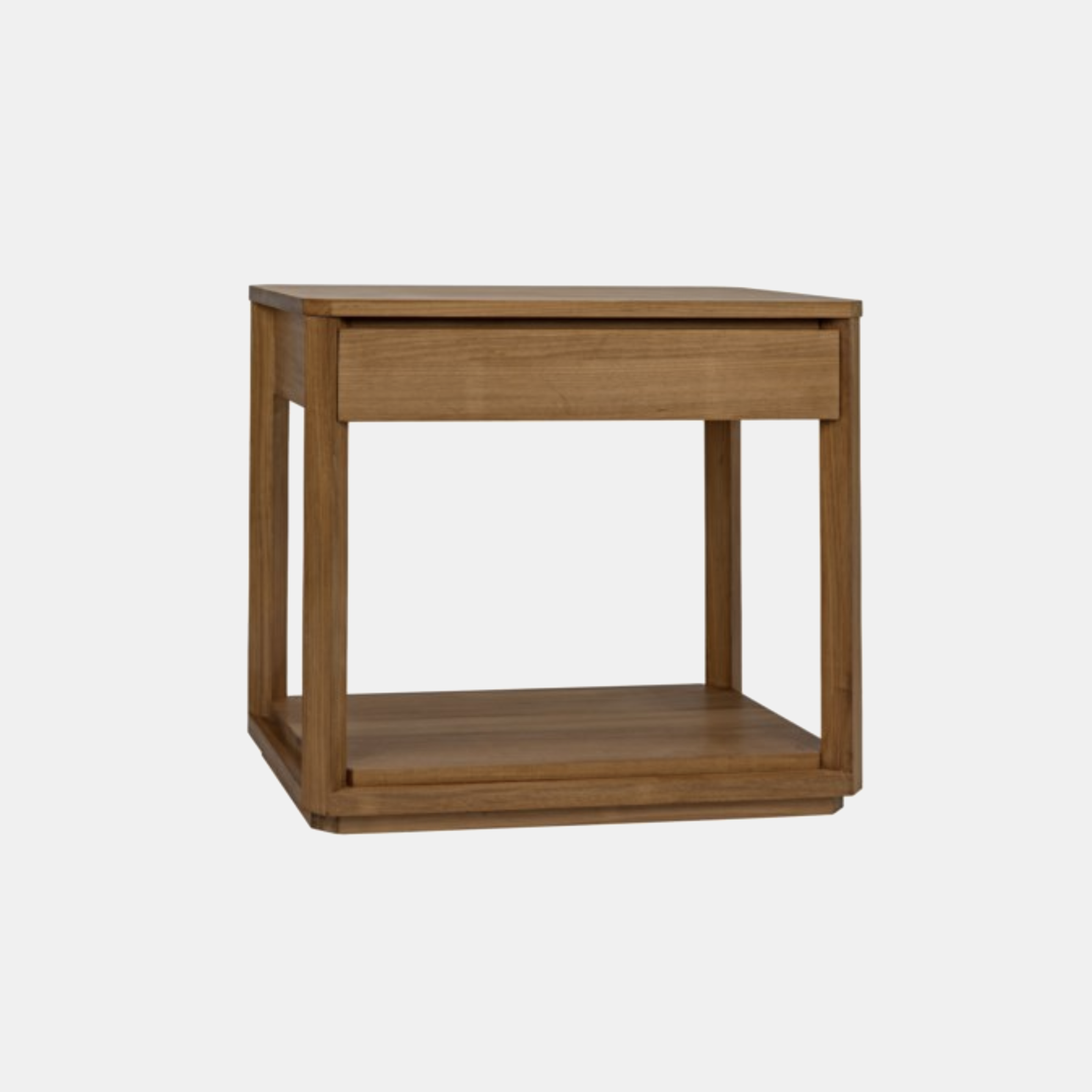 """Gold Teak Side Table with Drawer  32""""l x 18""""d x 28.5""""h SKU3092NOR"""