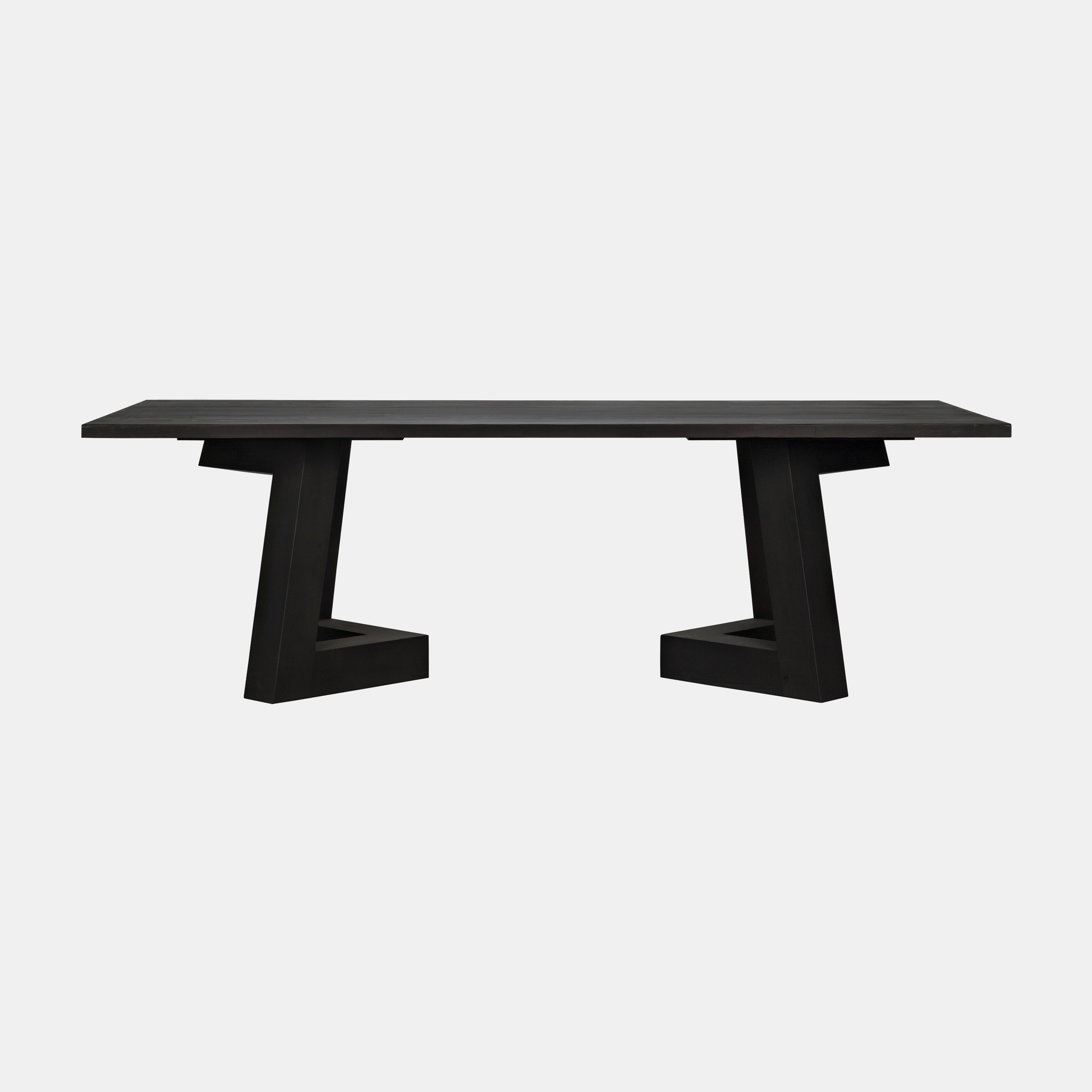 """Riga Dining Table  96""""l x 42""""w x 30""""h  108""""l x 44""""w x 30""""h 120""""l x 44""""w x 30""""h Available in black wax (shown) or gray wash wax. SKU12221CFC"""