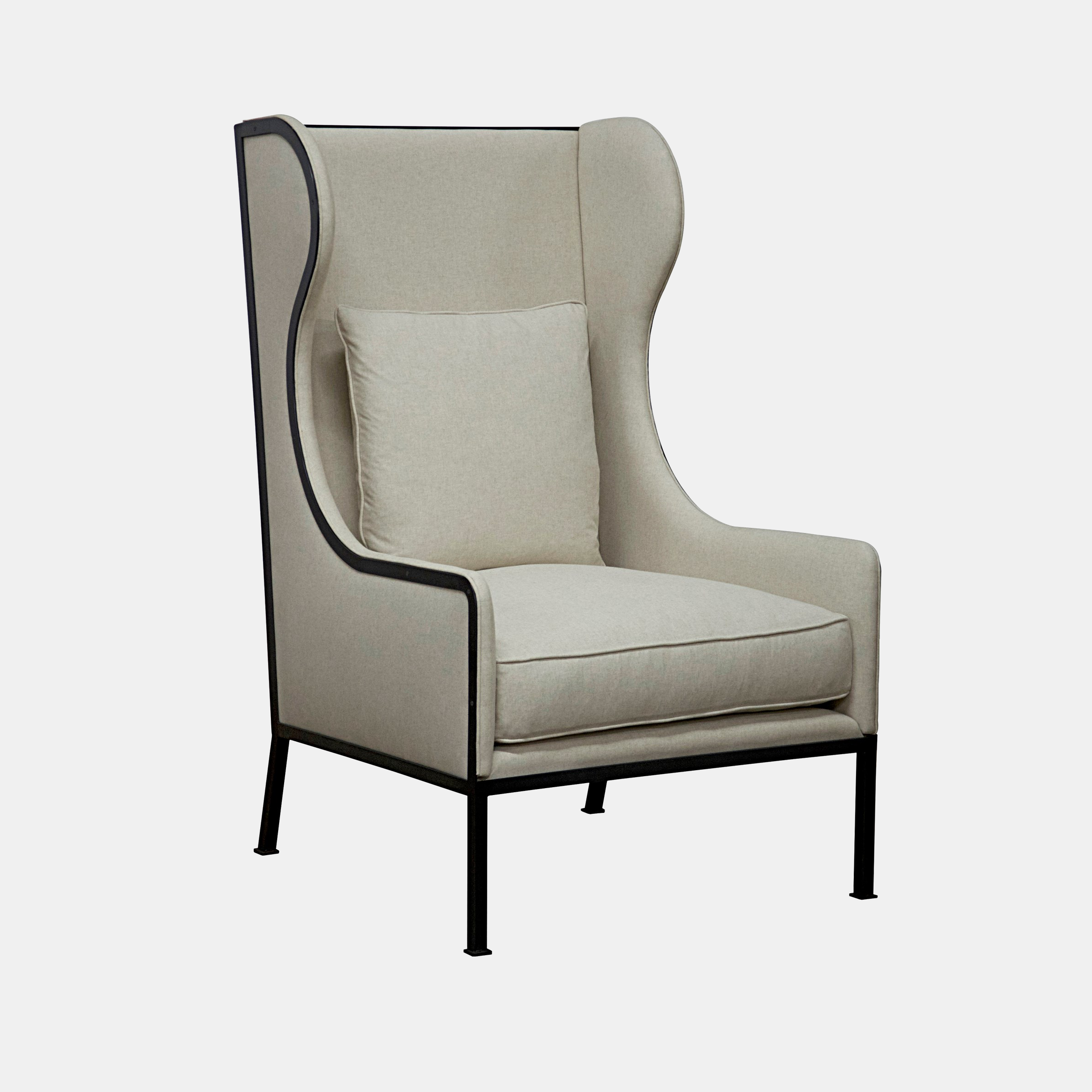 "Tall Allende Chair  32""w x 39""d x 52""h  Also available as standard chair. SKU0098CFC"