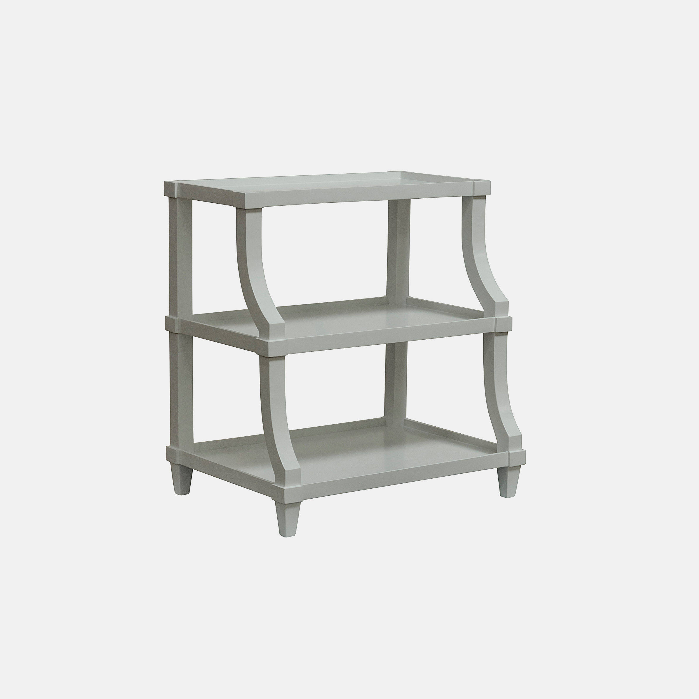 """Carlsbad Side Table  30""""l x 22""""d x 32""""h Available in mystic white (shown) and espresso. Also available with straight legs. SKU5190CFC"""