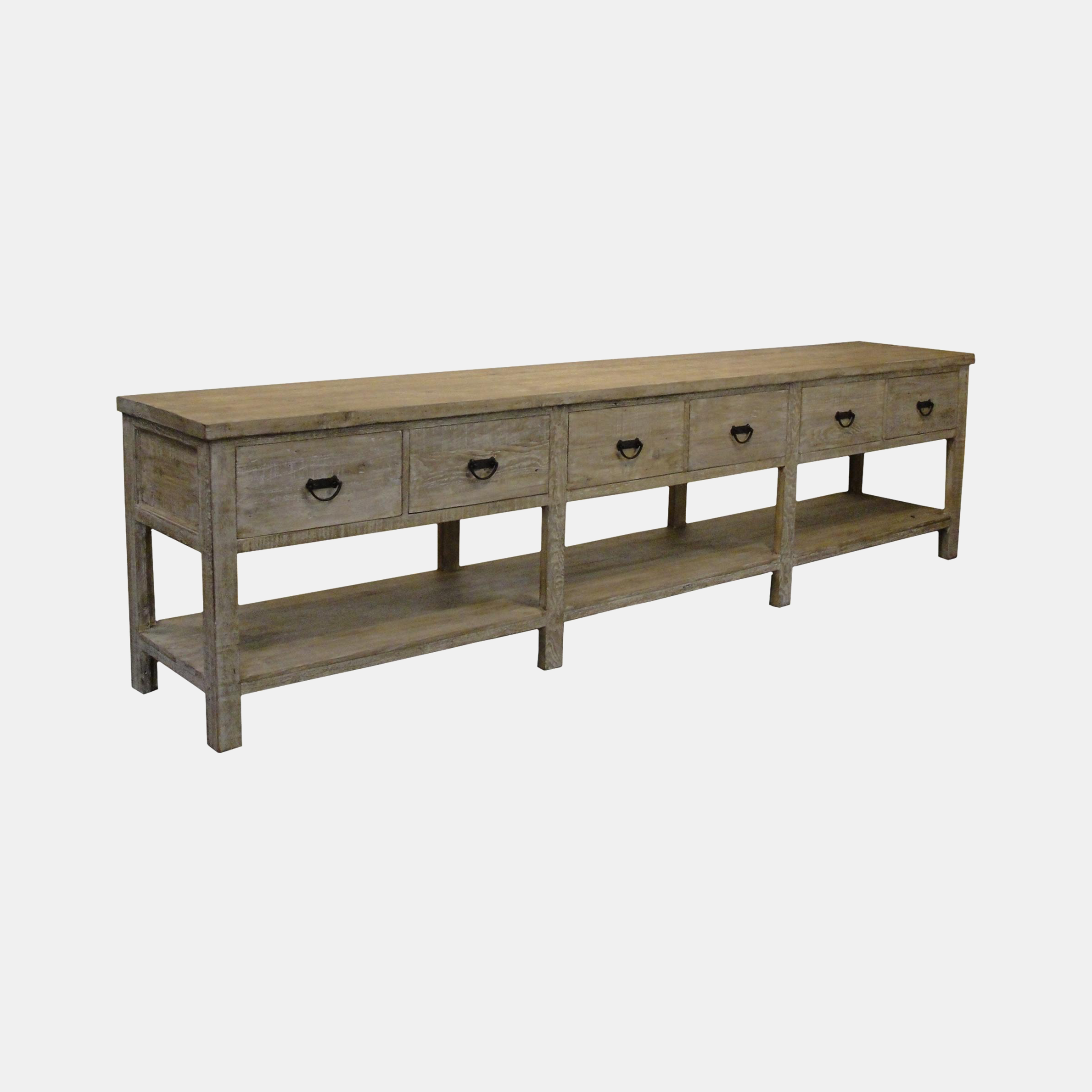 """Reclaimed Lumber Console  142""""l x 24.5""""d x 36""""h Also available as 3-drawer 84""""l x 20""""d x 36""""h SKU240CFC"""