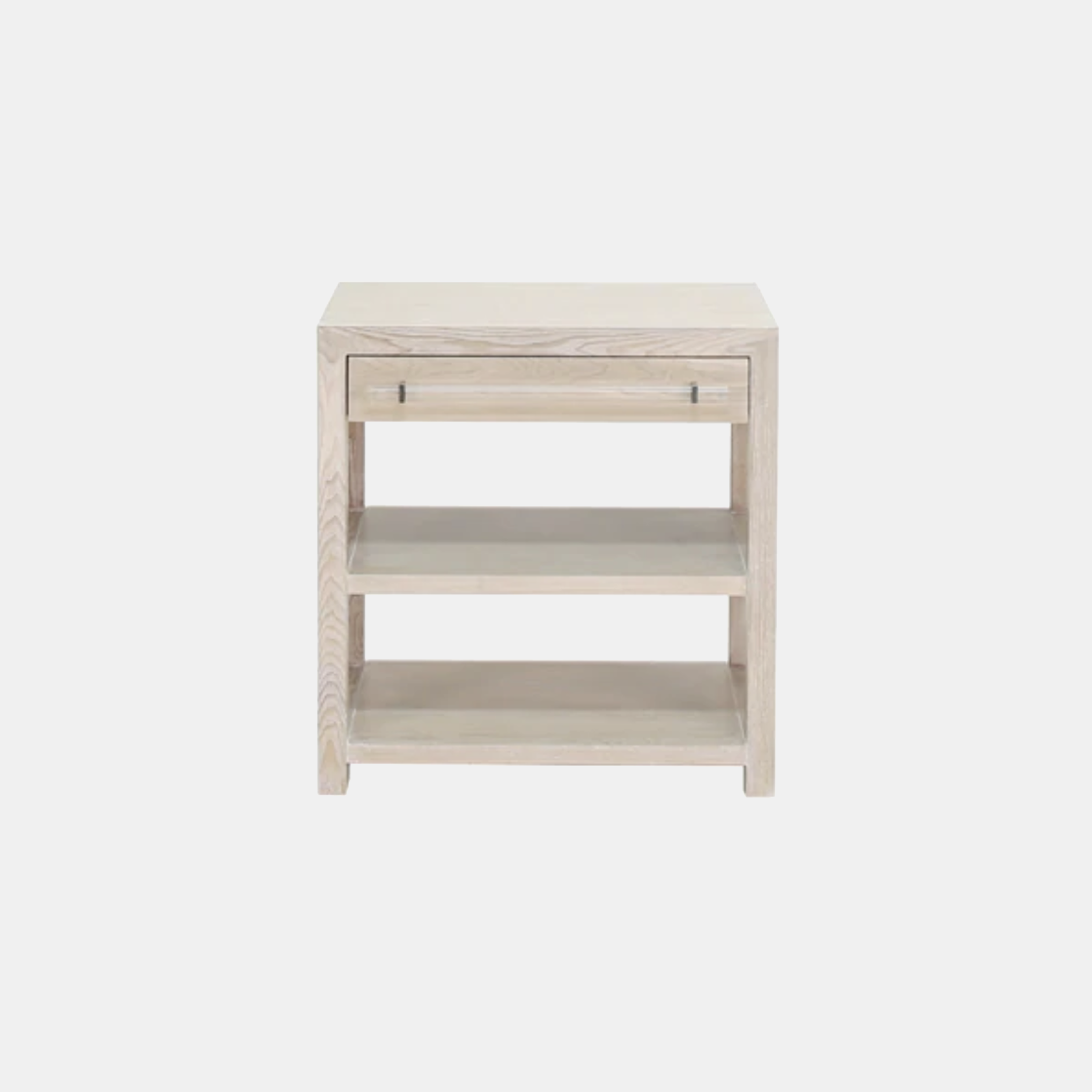 """Garbo Side Table  28""""l x 18""""d x 29""""h Available in cerused oak (shown), gray cerused oak, and white lacquer. SKU6190WAY"""