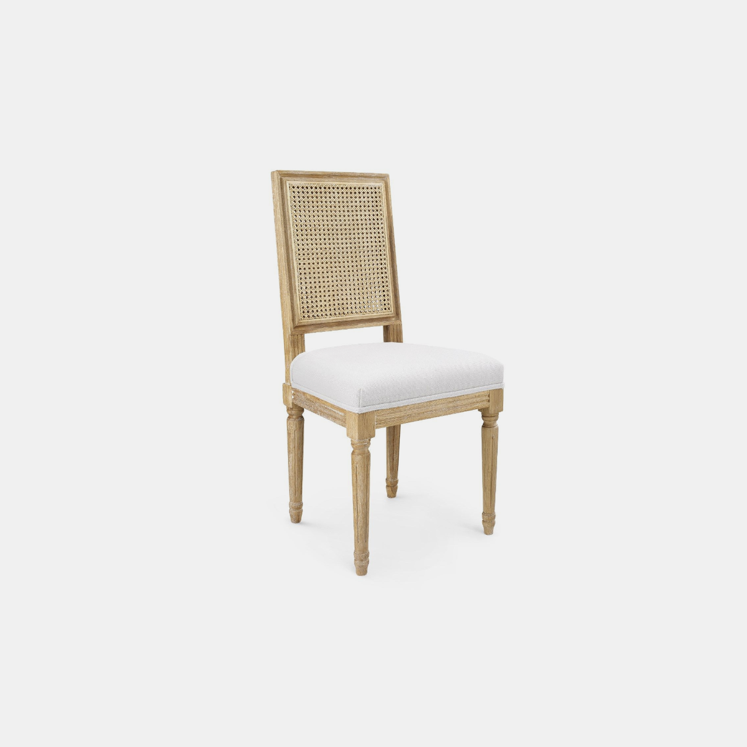 "Annette Side Chair  19""w x 19""d x 38.5""h Available in natural (shown) and gray. SKU244BGW"