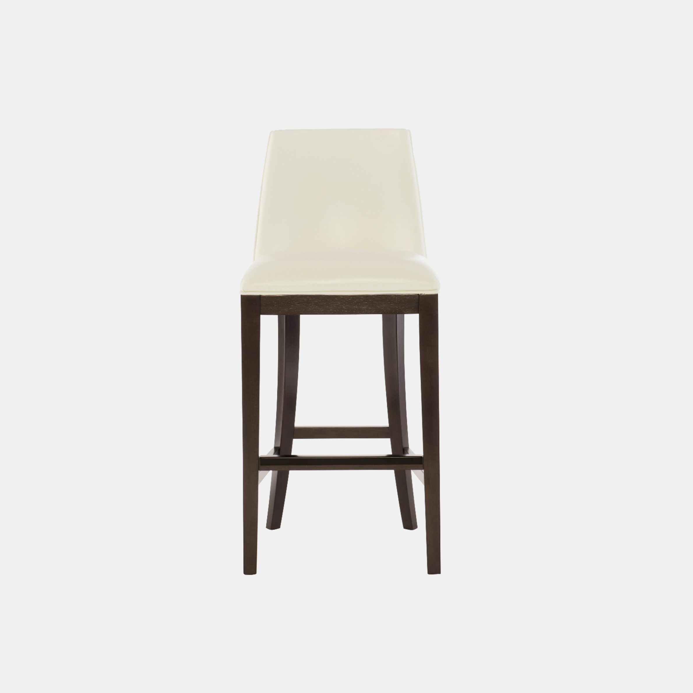 "Bailey Bar Stool  19""w x 22.25""d x 42.5""h Available in fabric and leather. Wood finish available in cocoa (shown) or smoke. Also available as counter stool. SKU358BHT"